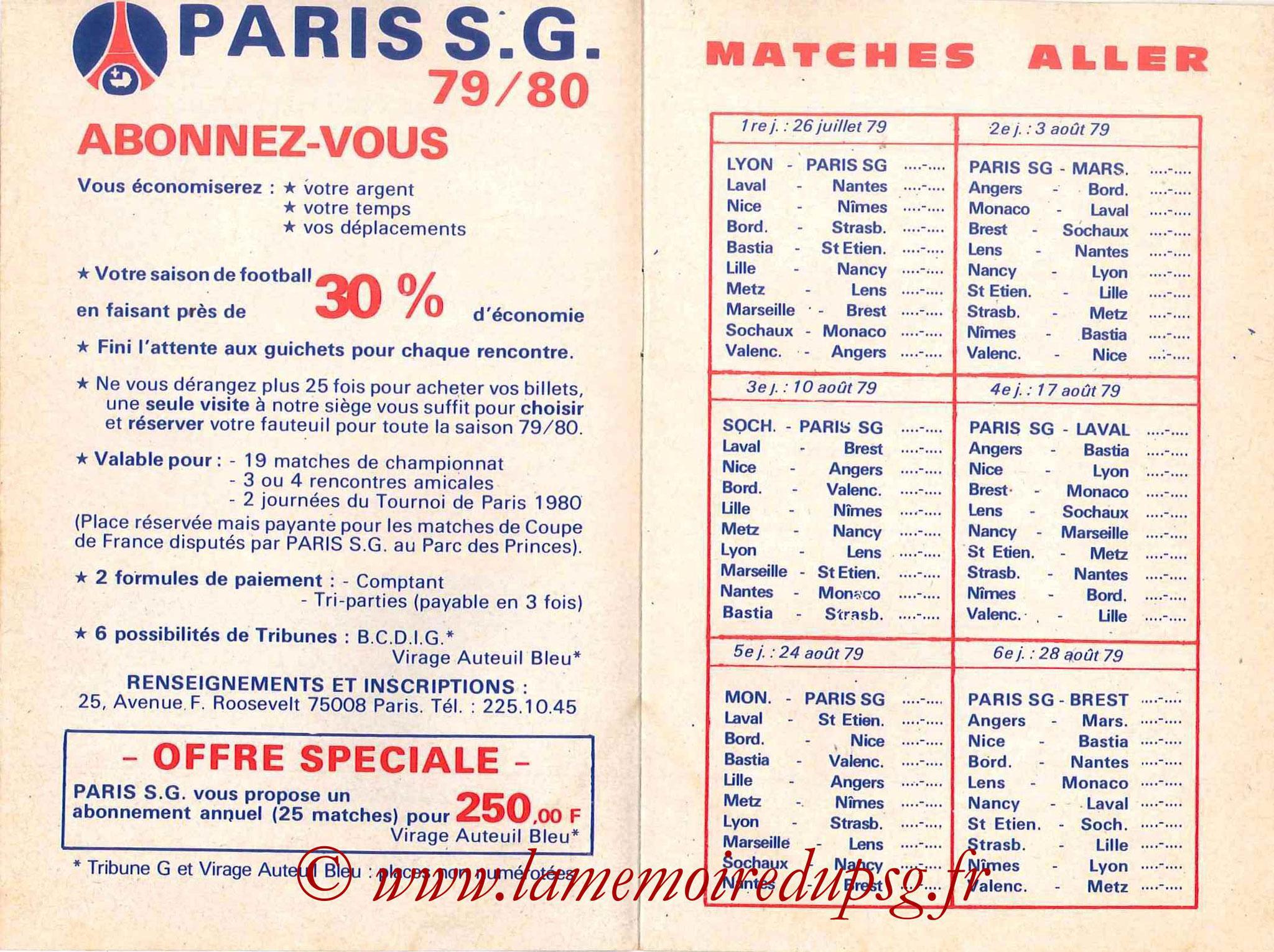 1979-80 - Guide de la Saison PSG - Pages 4 et 5