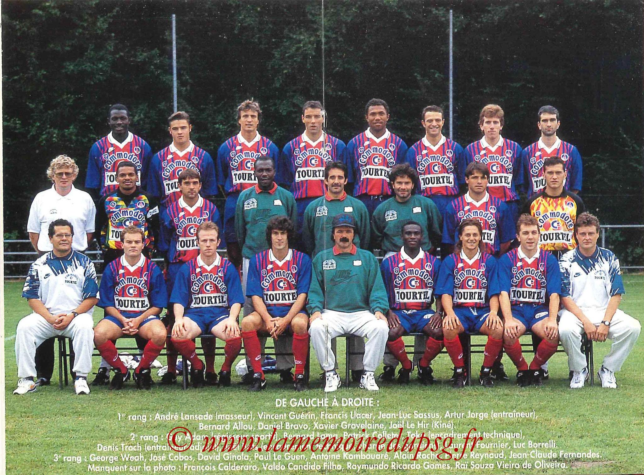 1993-94 - Guide de la Saison PSG - Pages 18 et 19