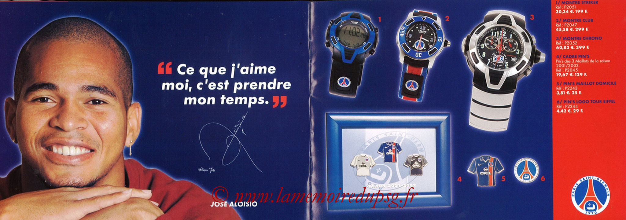 Catalogue PSG - 2001-02 - Noêl - Pages 16 et 17