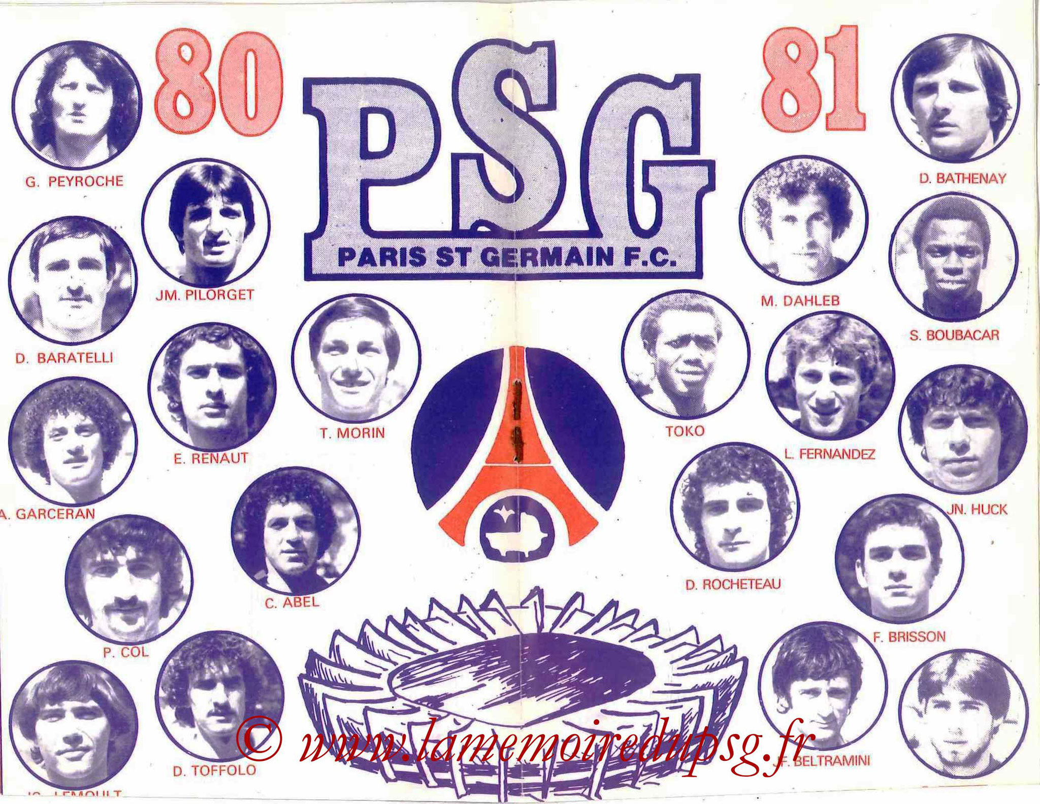 1980-81 - Guide de la Saison PSG - Pages 8 et 9