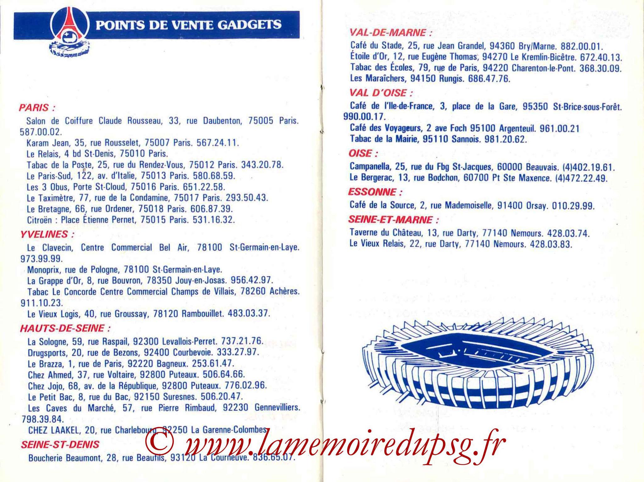 1985-86 - Guide de la Saison PSG - Pages 22 et 23