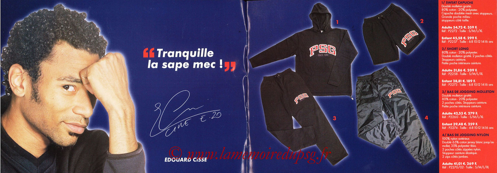 Catalogue PSG - 2001-02 - Noêl - Pages 02 et 03