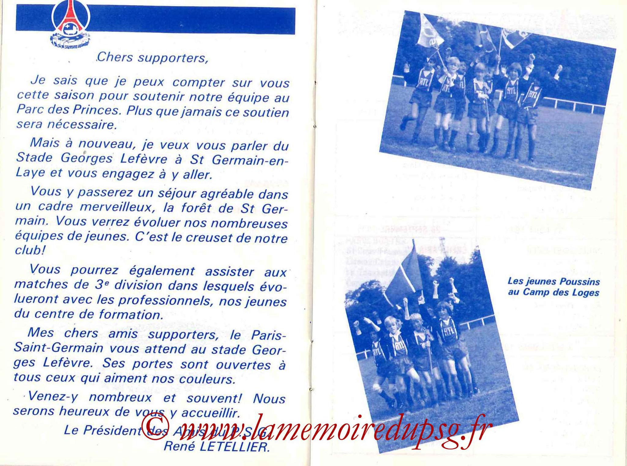 1985-86 - Guide de la Saison PSG - Pages 24 et 25