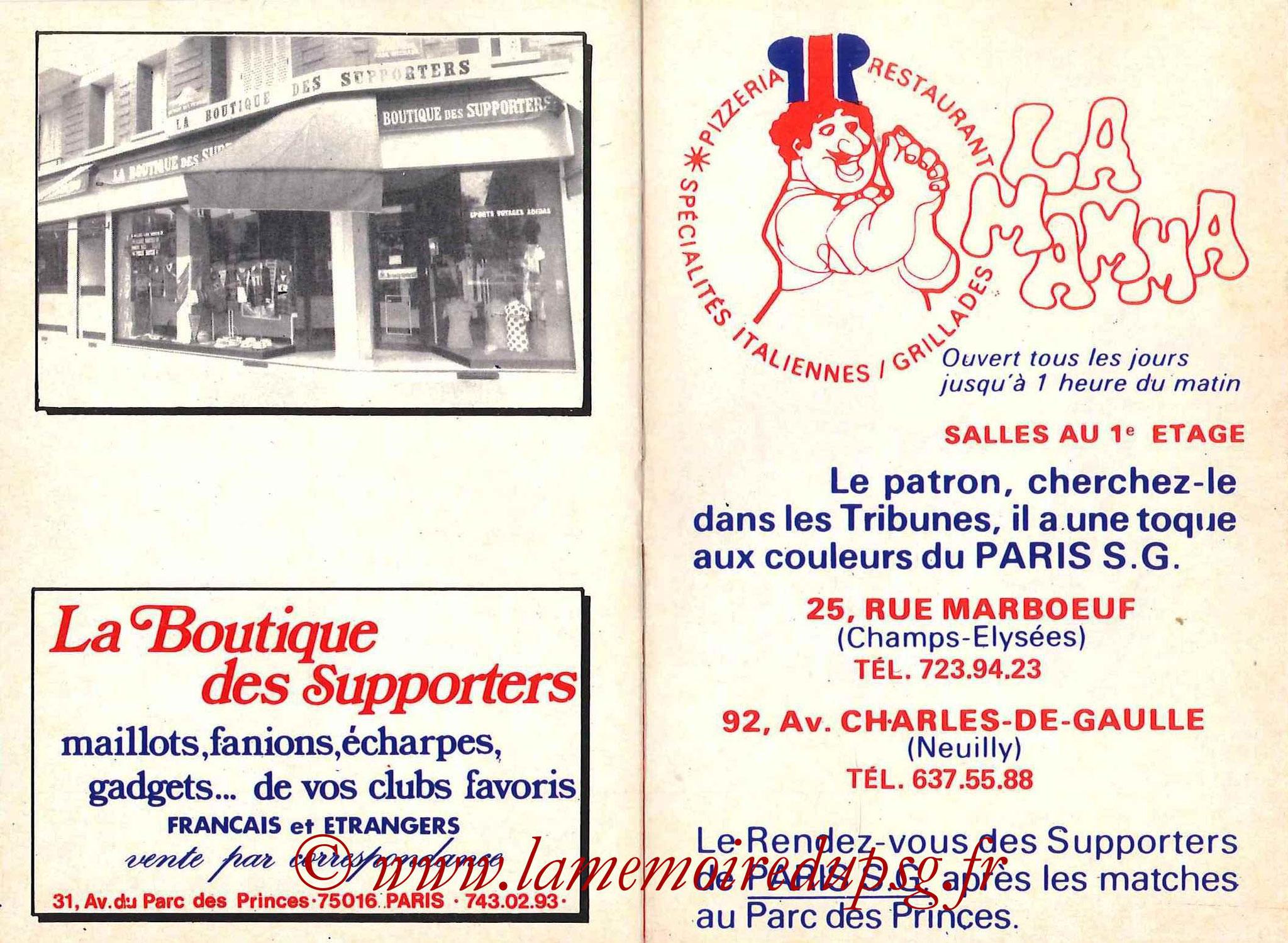 1981-82 - Guide de la Saison PSG - Pages 20 et 21