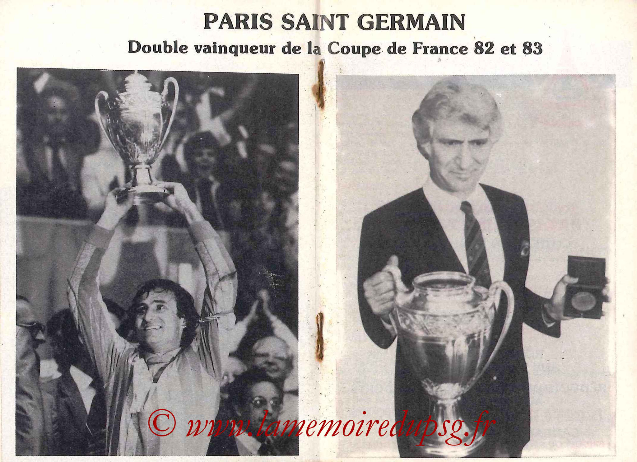 1983-84 - Guide de la Saison PSG - Pages 14 et 15