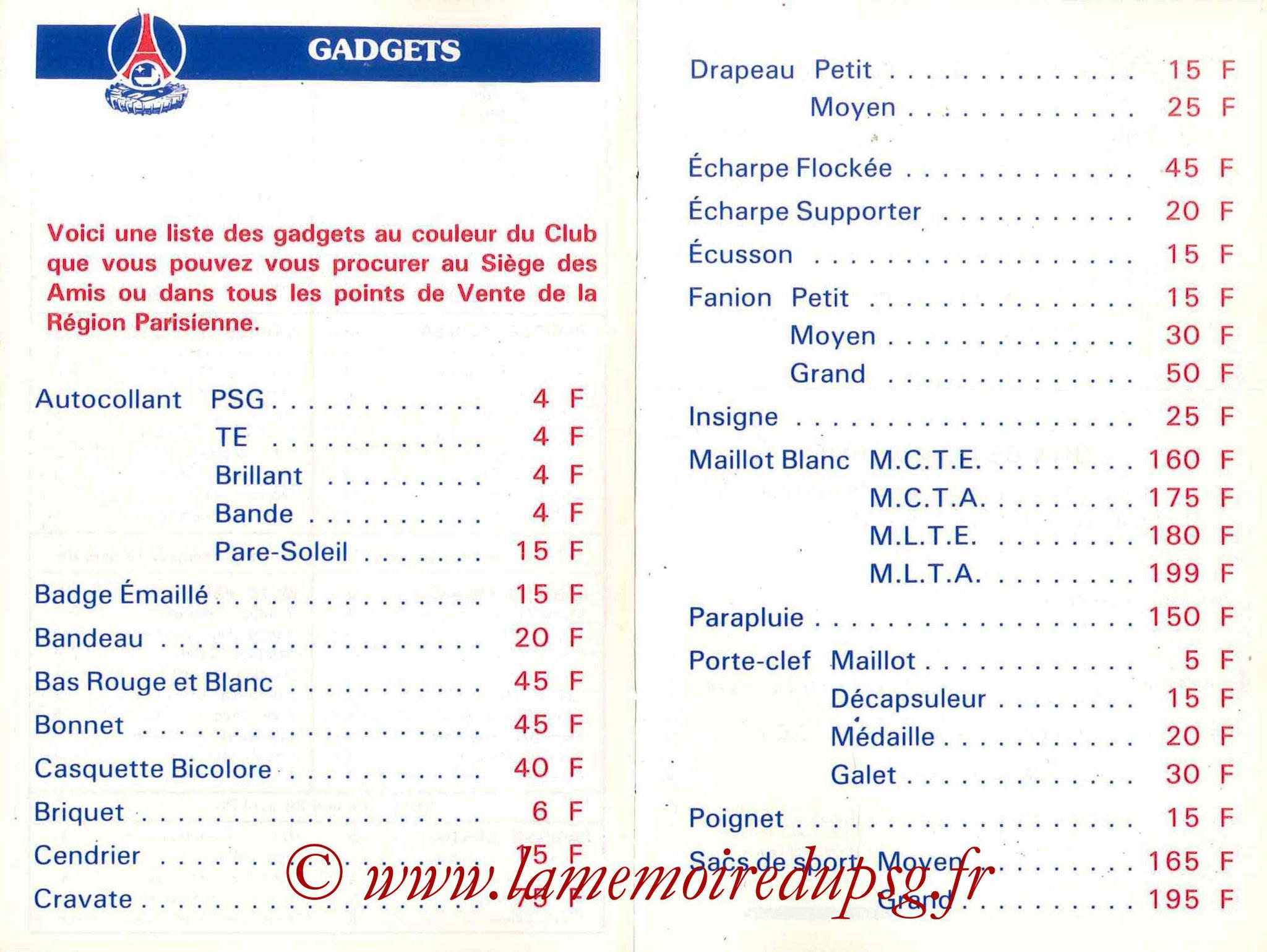 1985-86 - Guide de la Saison PSG - Pages 12 et 13