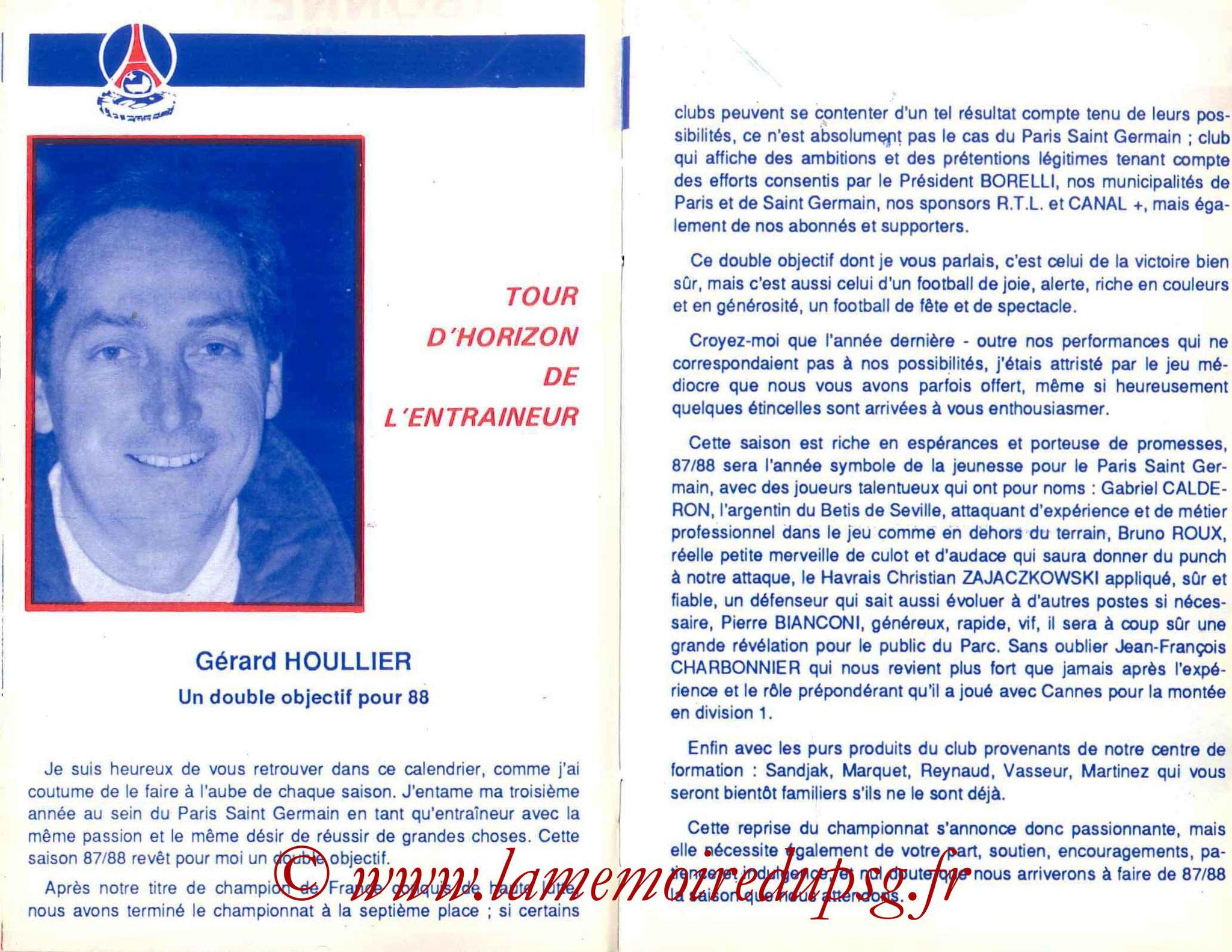 1987-88 - Guide de la Saison PSG - Pages 16 et 17