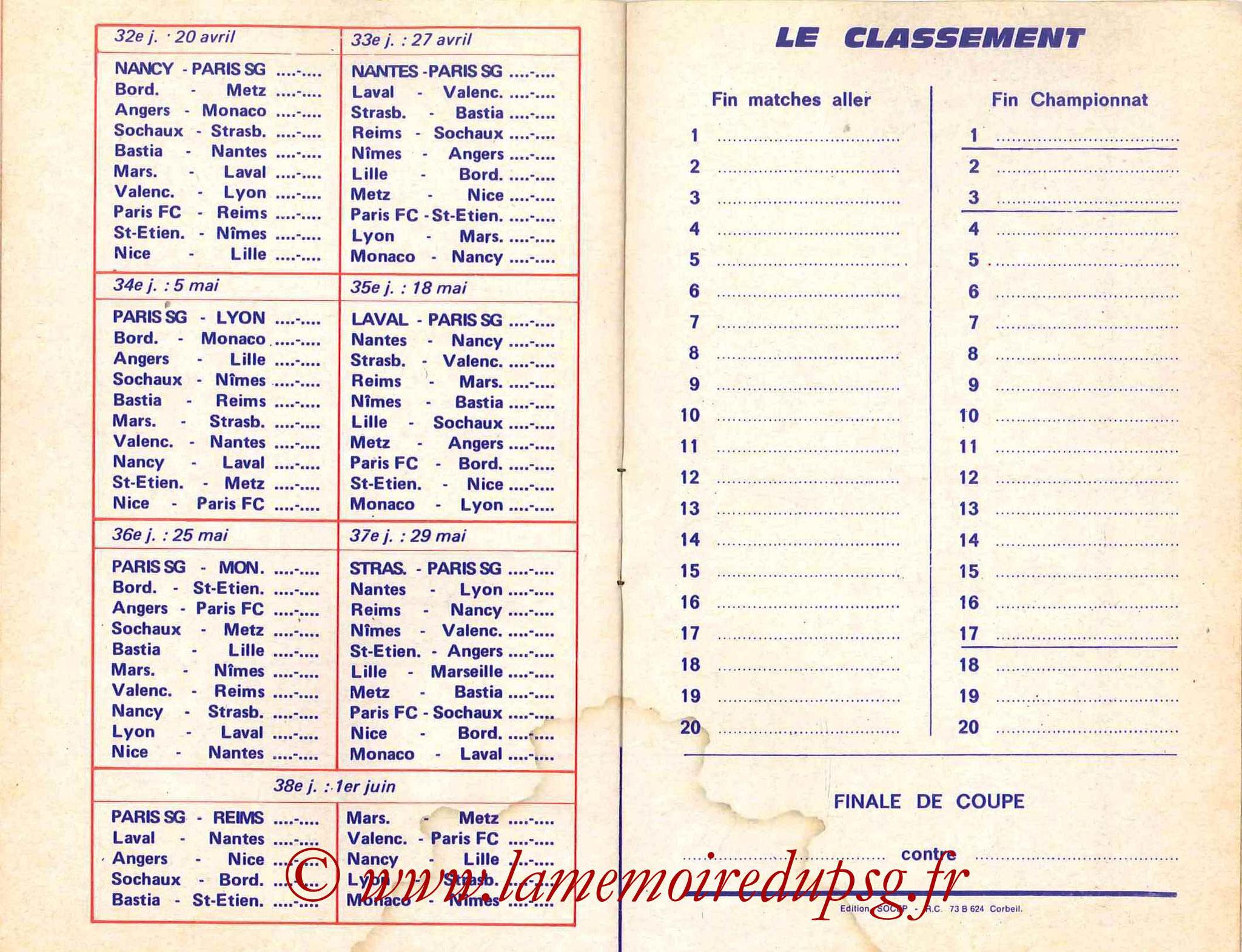 1978-79 - Guide de la Saison PSG - Pages 12 et 13