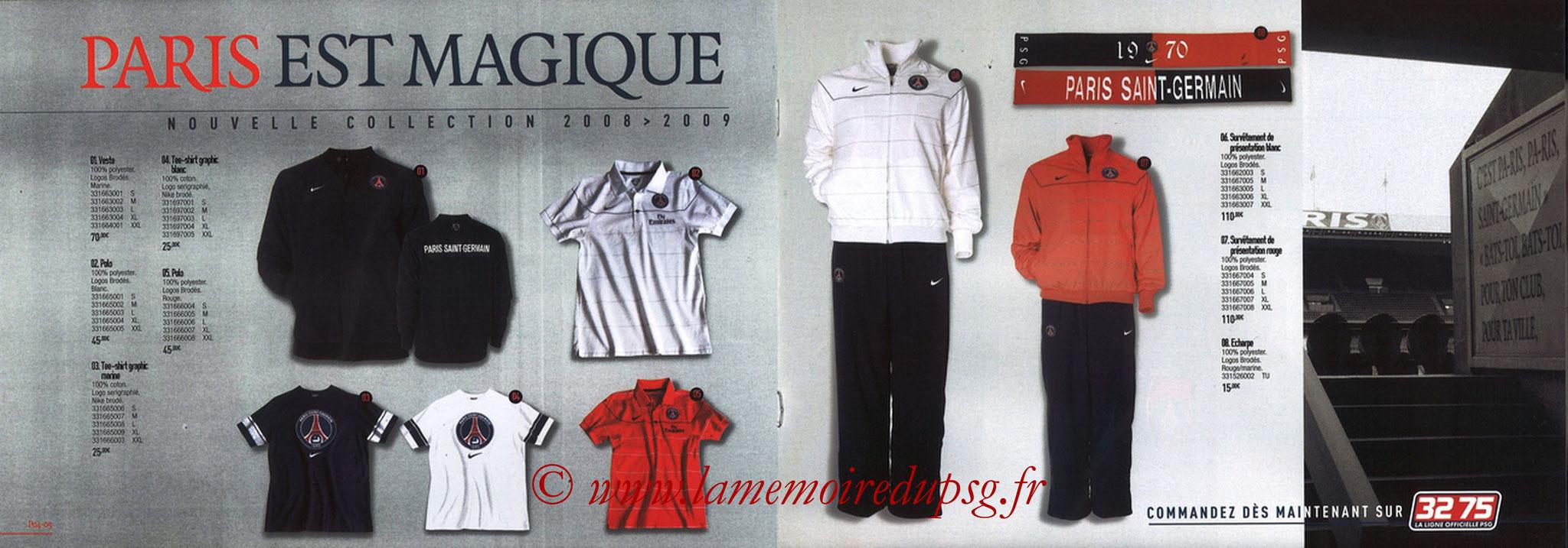 Catalogue PSG - 2008-09 - Pages 04 et 05