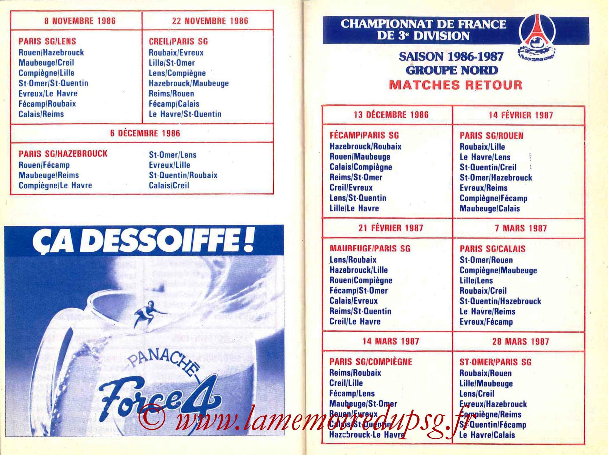 1986-87 - Guide de la Saison PSG - Pages 28 et 29