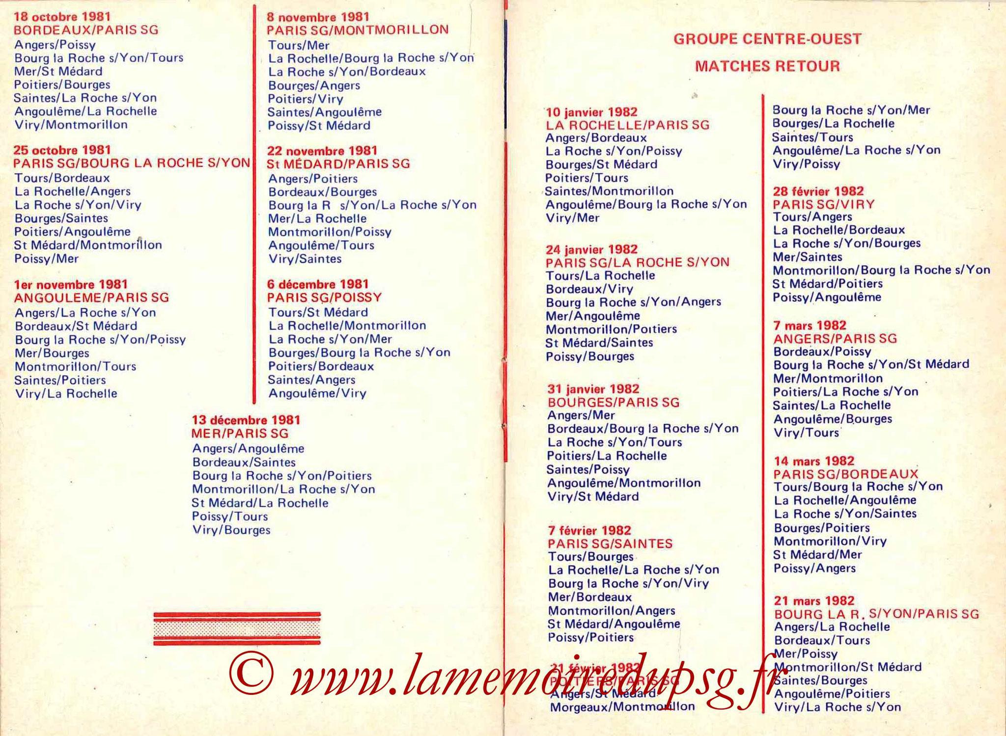 1981-82 - Guide de la Saison PSG - Pages 14 et 15