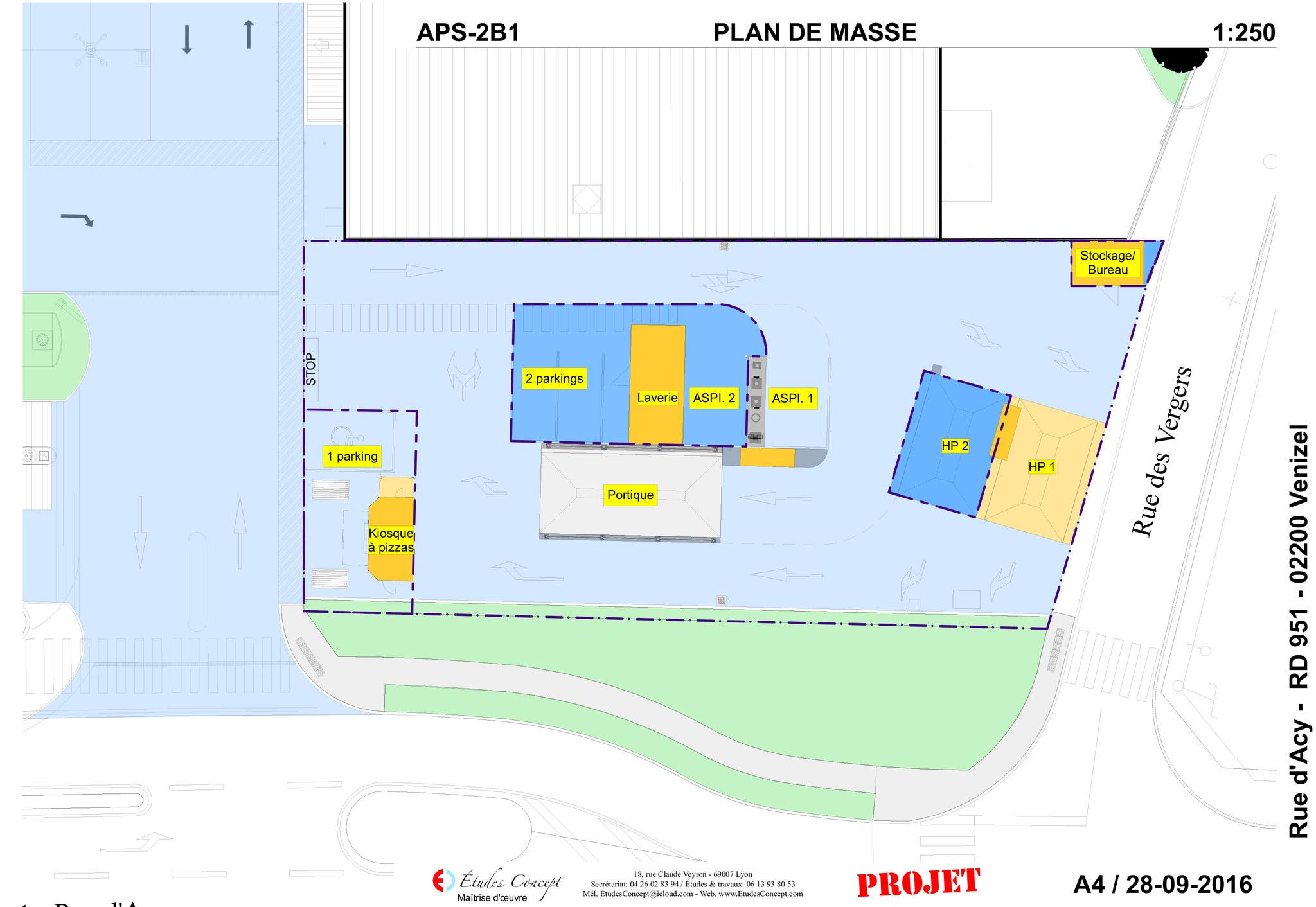 Plan de masse de l'avant-projet