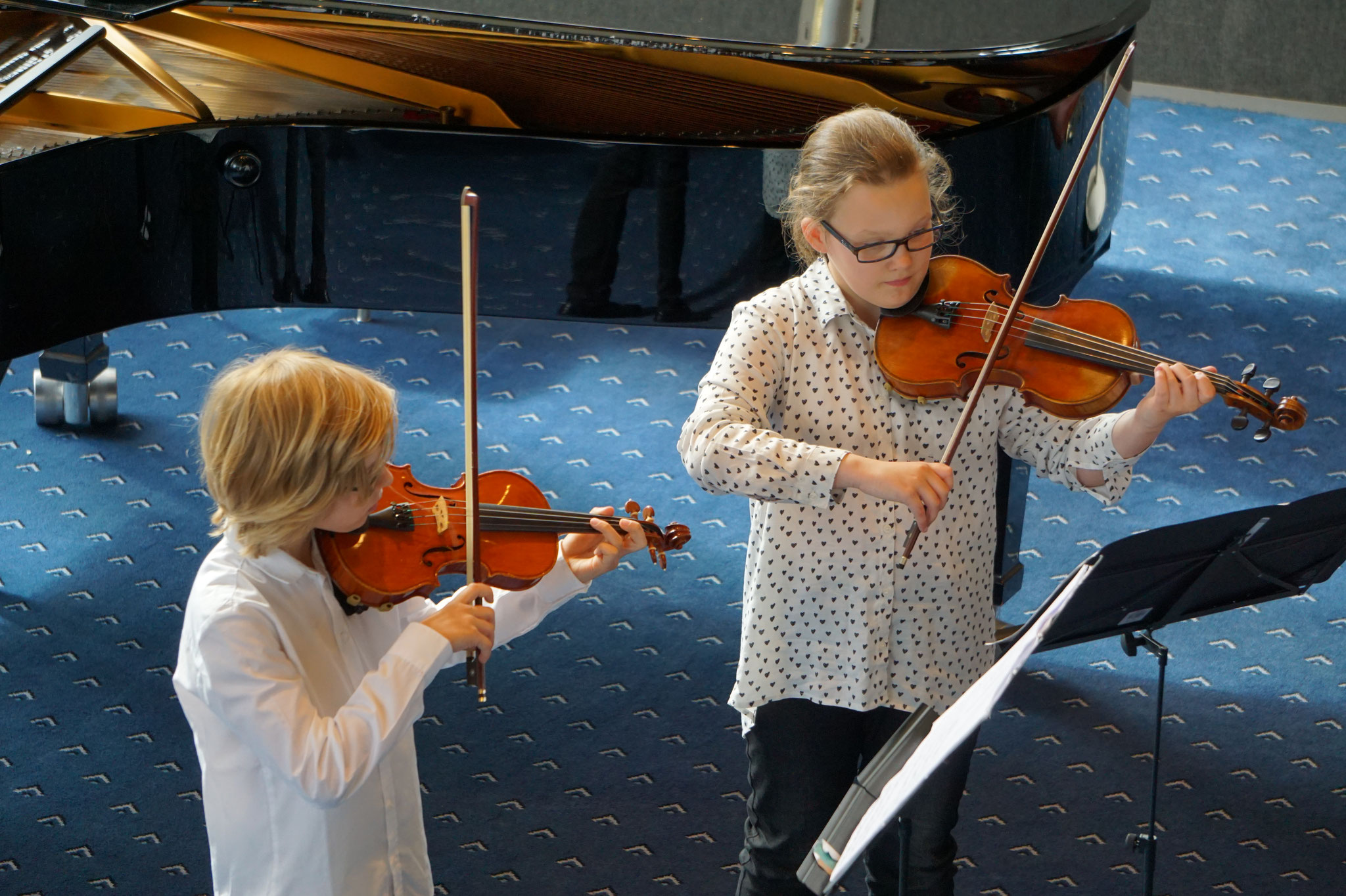 Kinder und Jugendliche musizieren am 14. Mai 2017