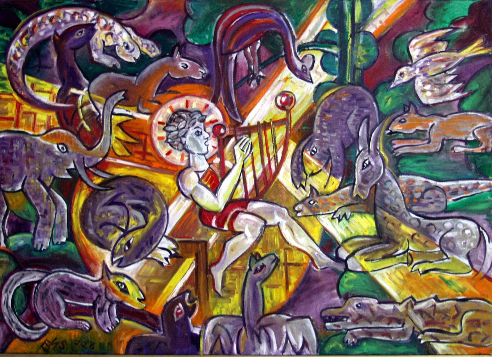 Orpheus und die Tiere                   100x140 cm