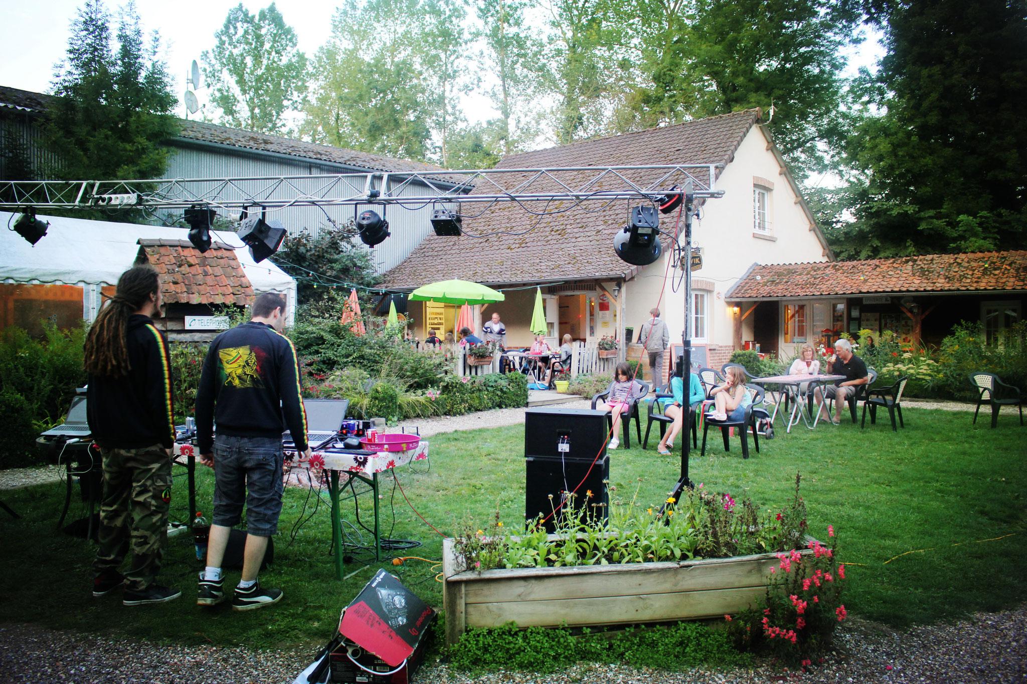 Concert dans le camping avec bar en Baie de Somme