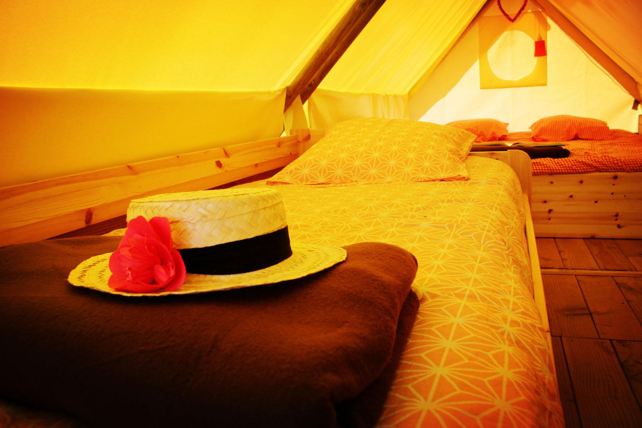 Tente perchée familiale pour 4 personnes dans le camping en Baie de Somme