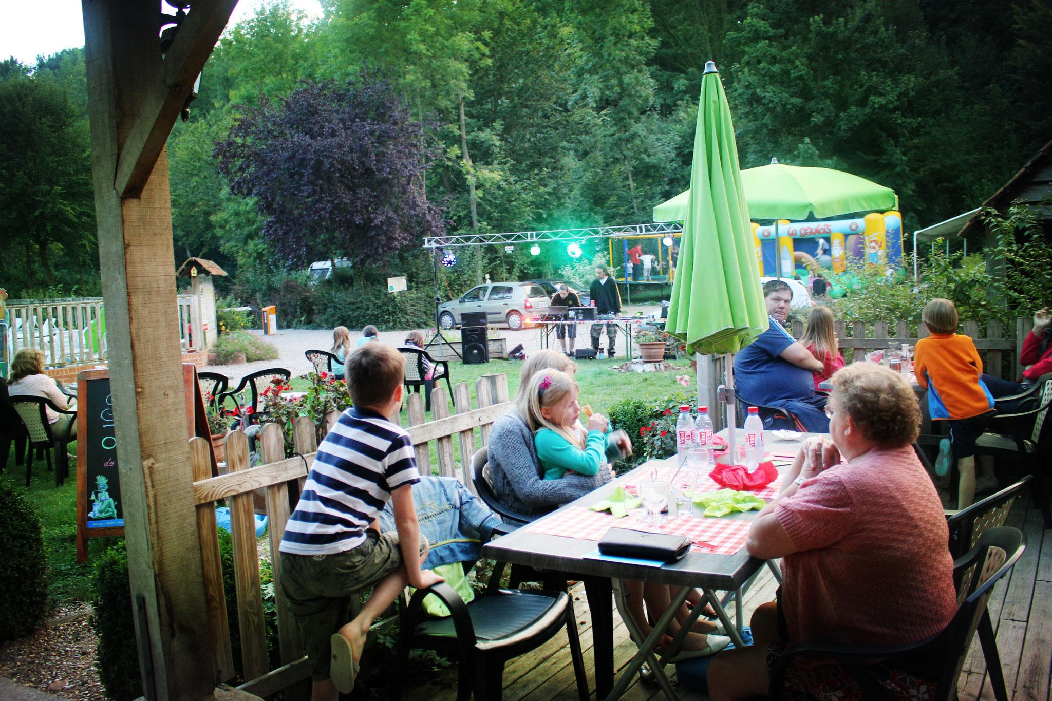 Concert dans le camping à Le Crotoy