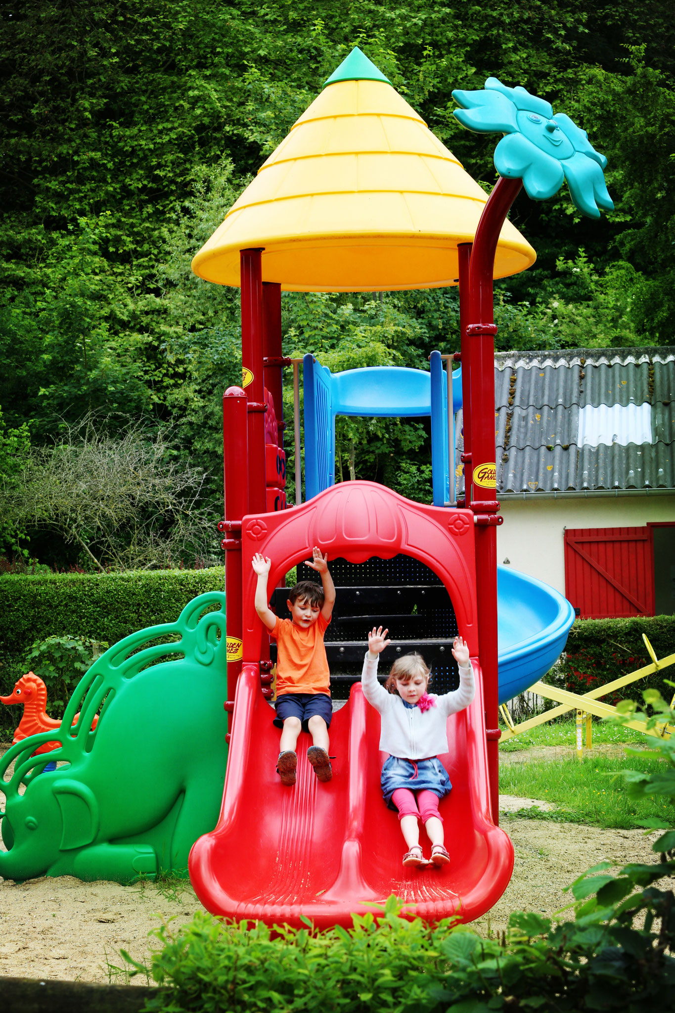 Aire de jeux dans le camping en Baie de Somme