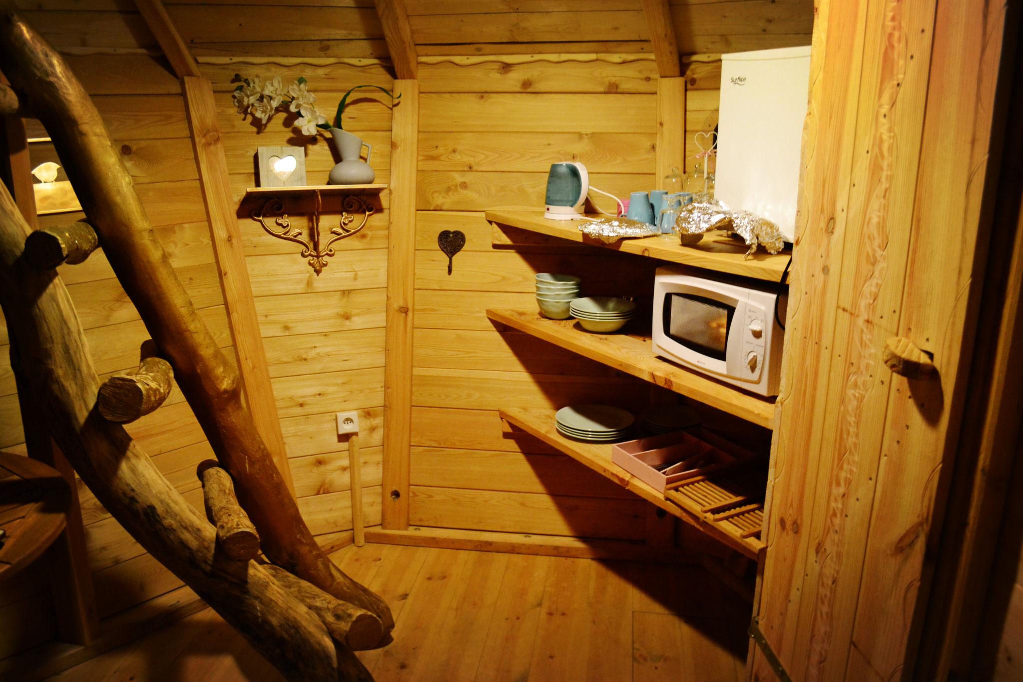 Cabane dans les arbres familiale 4 personnes en Baie de Somme