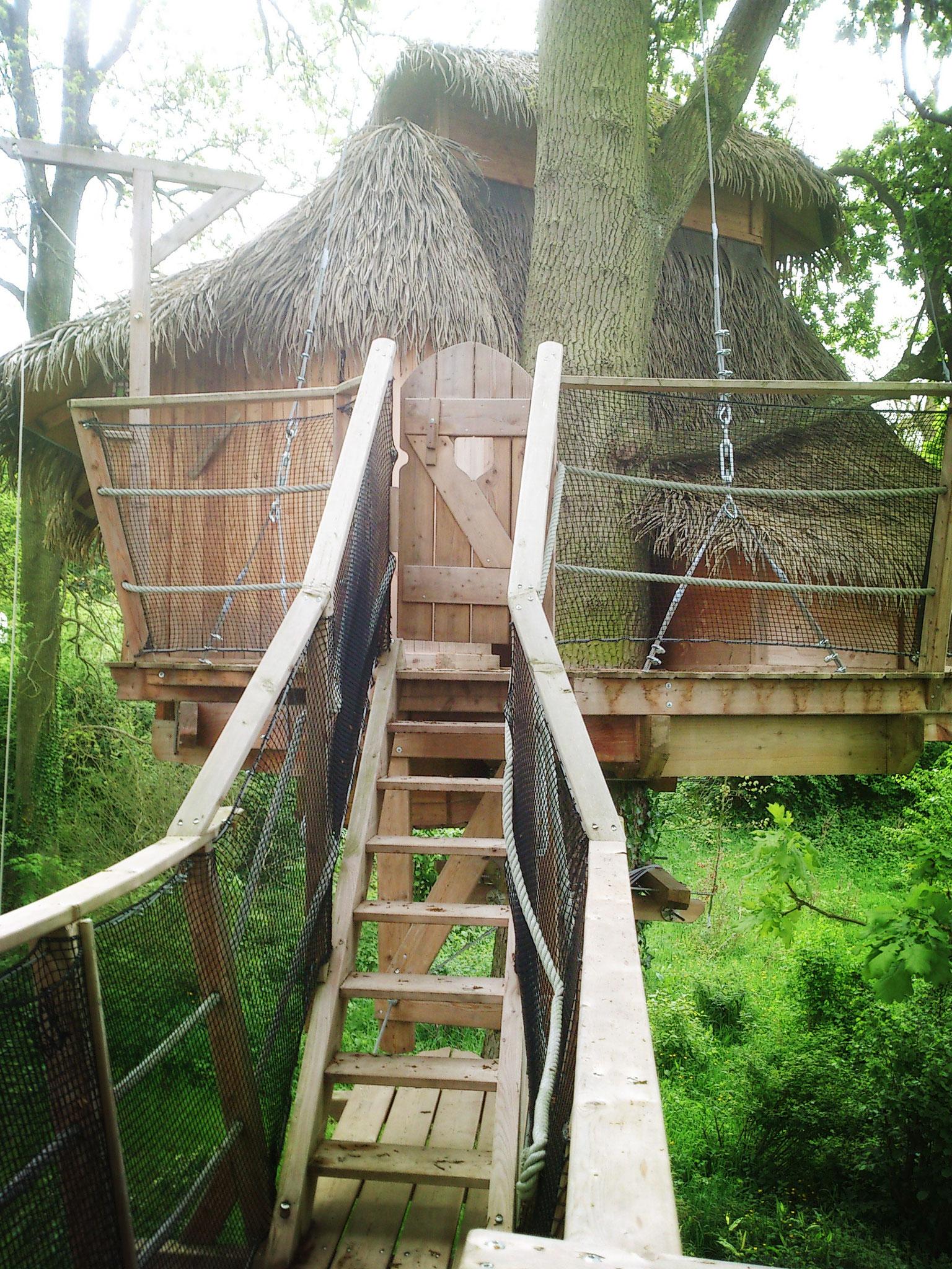 Profiter un séjour dans la cabane dans les arbres romantique en Baie de Somme