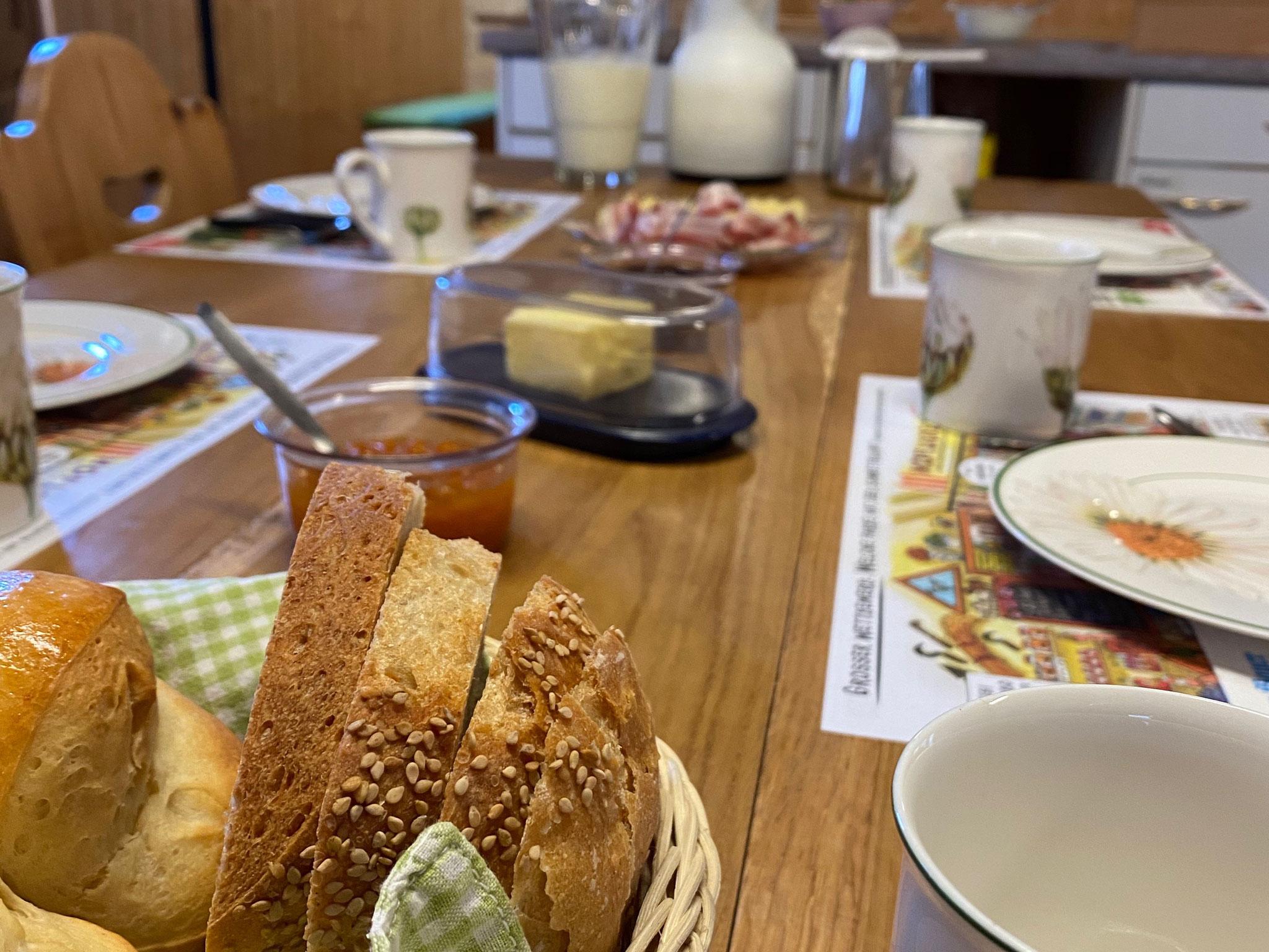 Leckeres und reichhaltiges Frühstück...