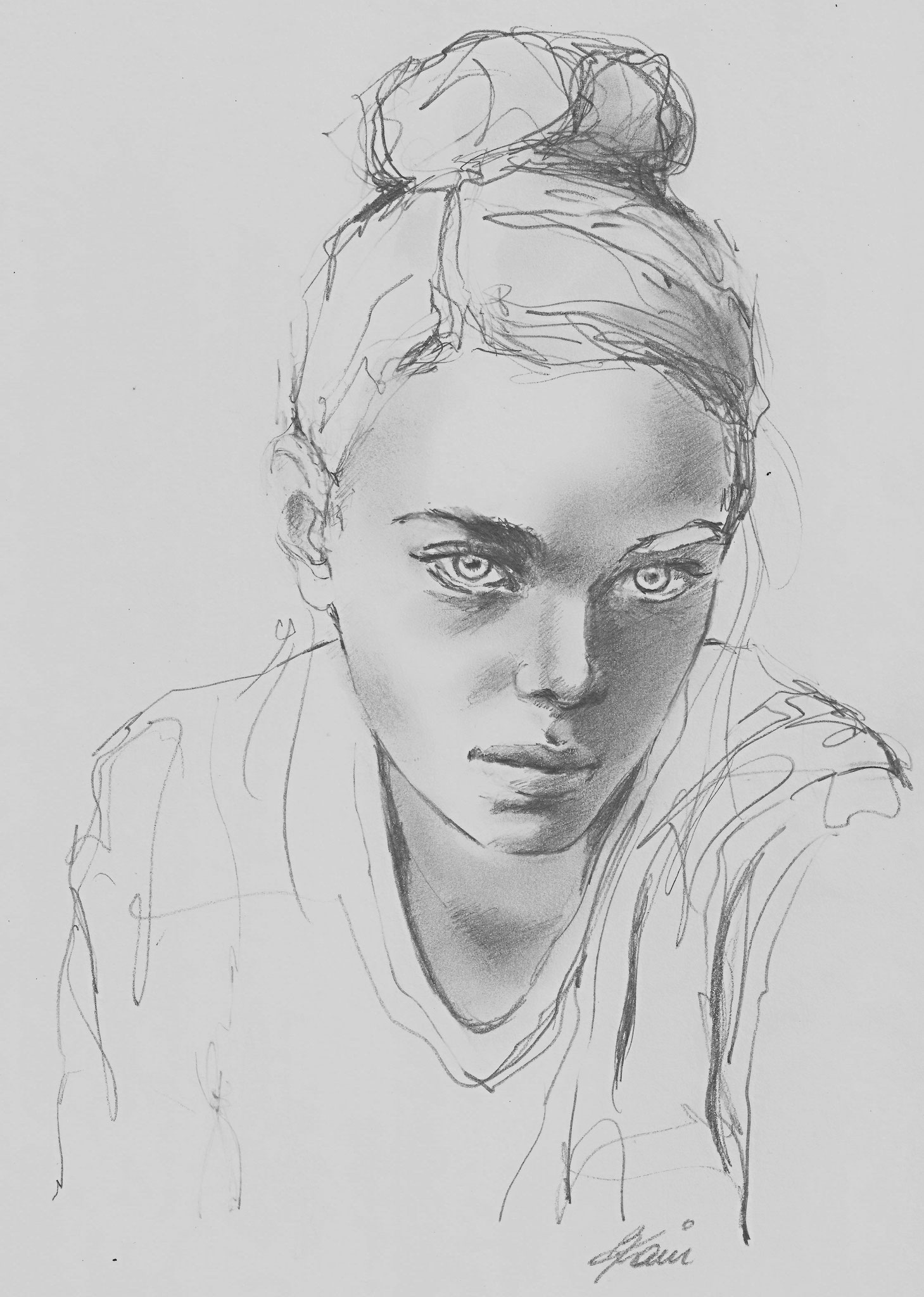 Portrait, 21 x 29,7 cm, pencils on paper