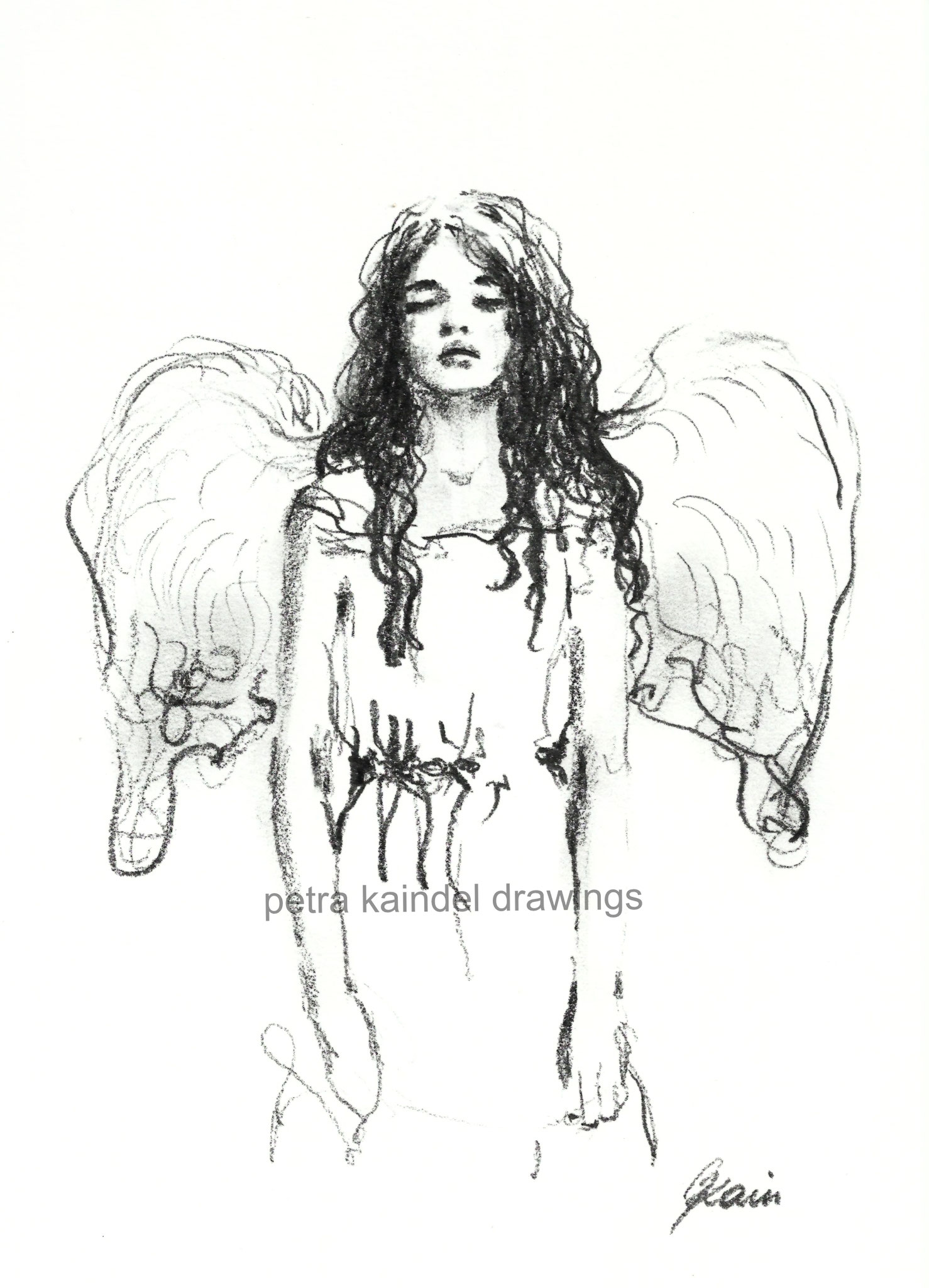 """""Angel"" 2018, small size, monolith on paper"