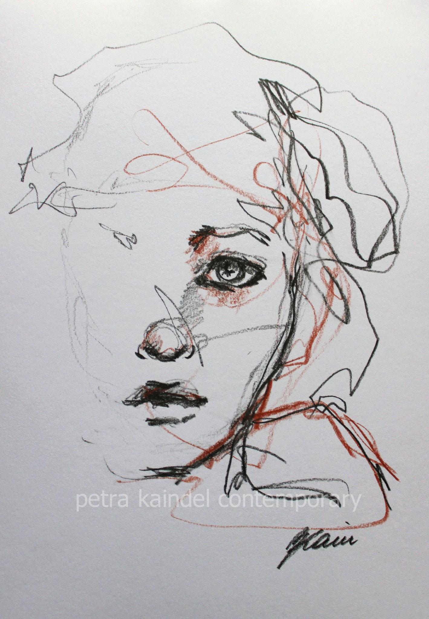 Portrait, 21 x 29,7 cm, pencils on paper