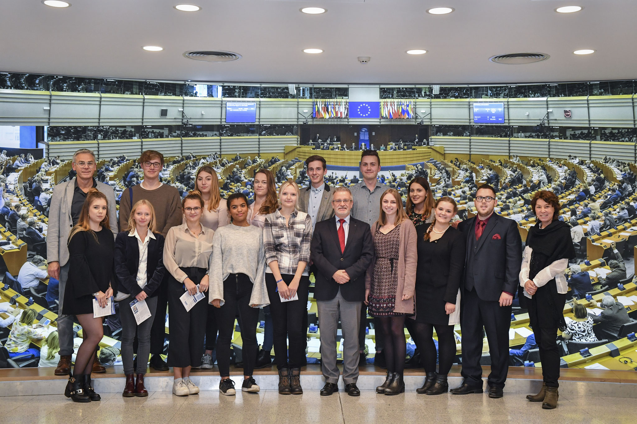 Besuch einer Gruppe der Adolf-Reichwein-Schule am 8. November 2017.