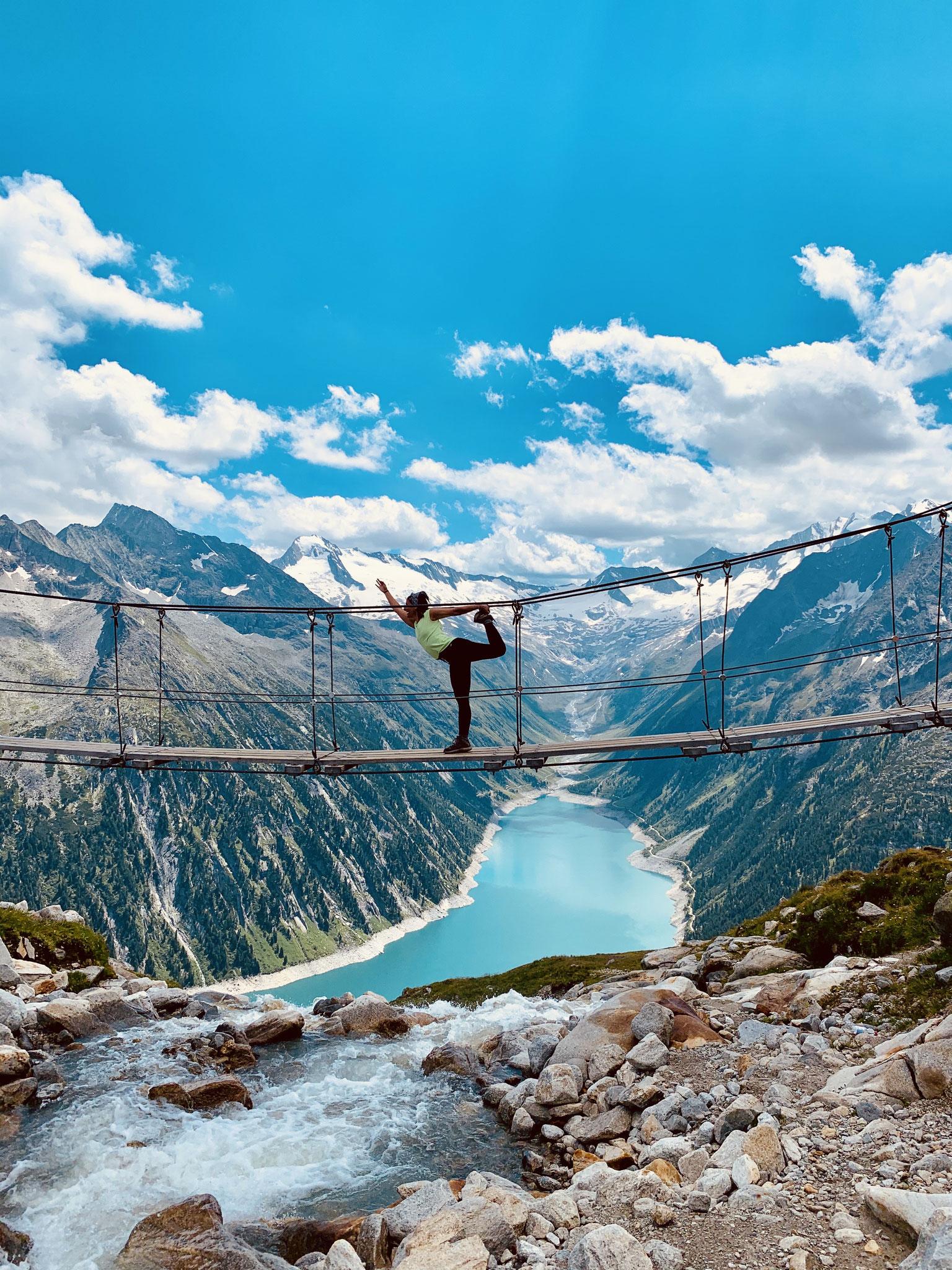 Tänzer auf der Zillertaler Brücke ;-)