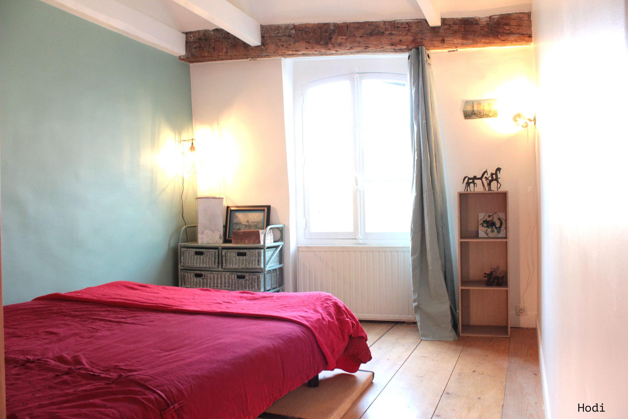 Chambre 2 mur celadon