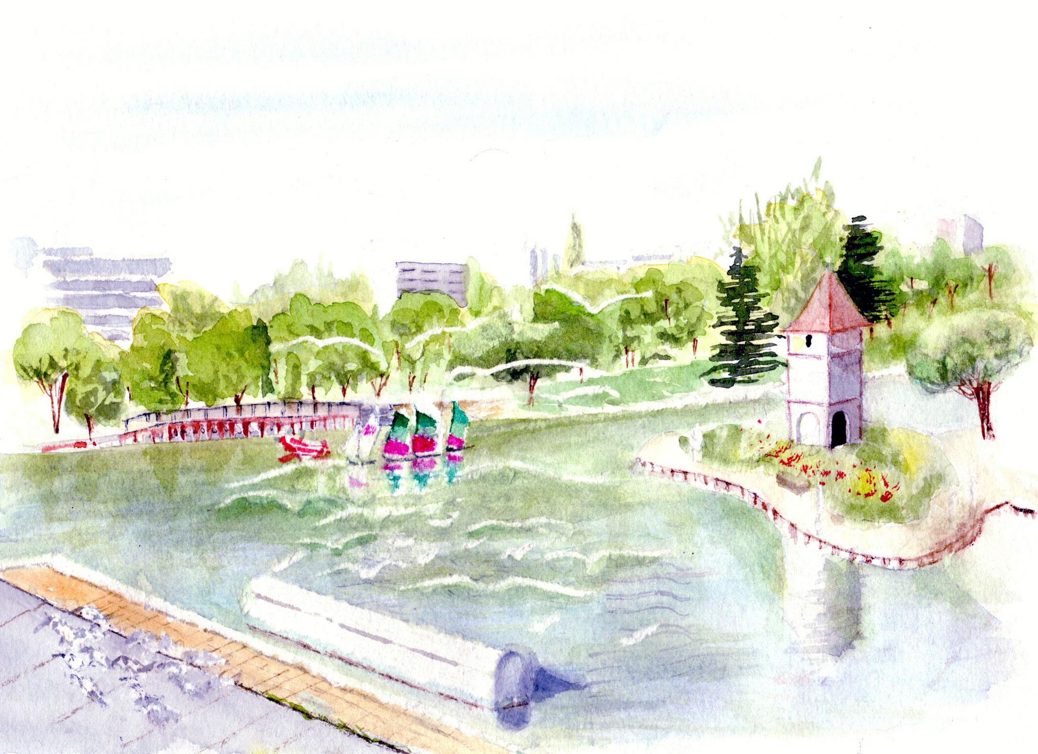 L'école de voile sur la lac de la Reynerie