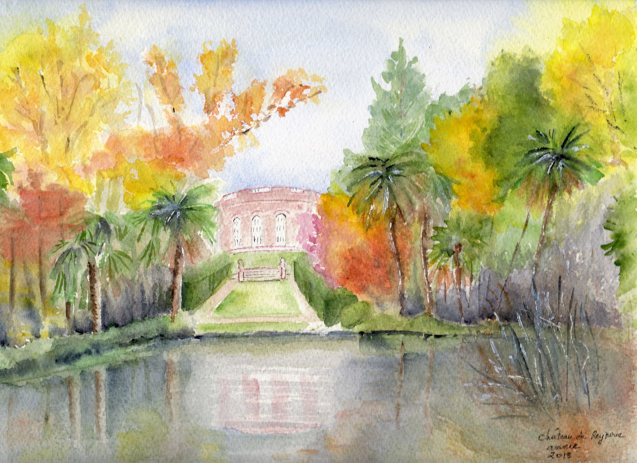 Le château de la Reynerie en automne