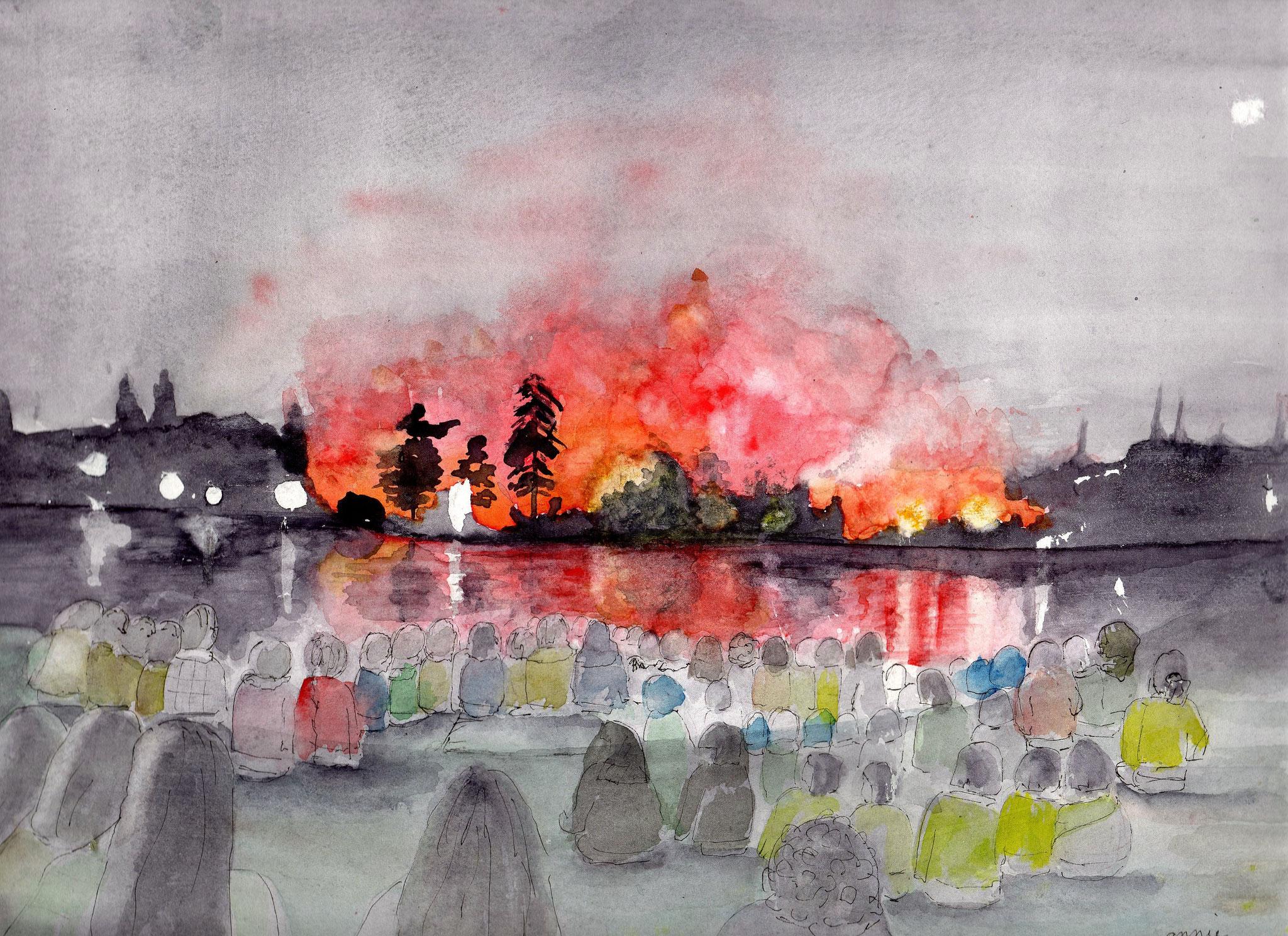 Le 13 juillet au bord du lac