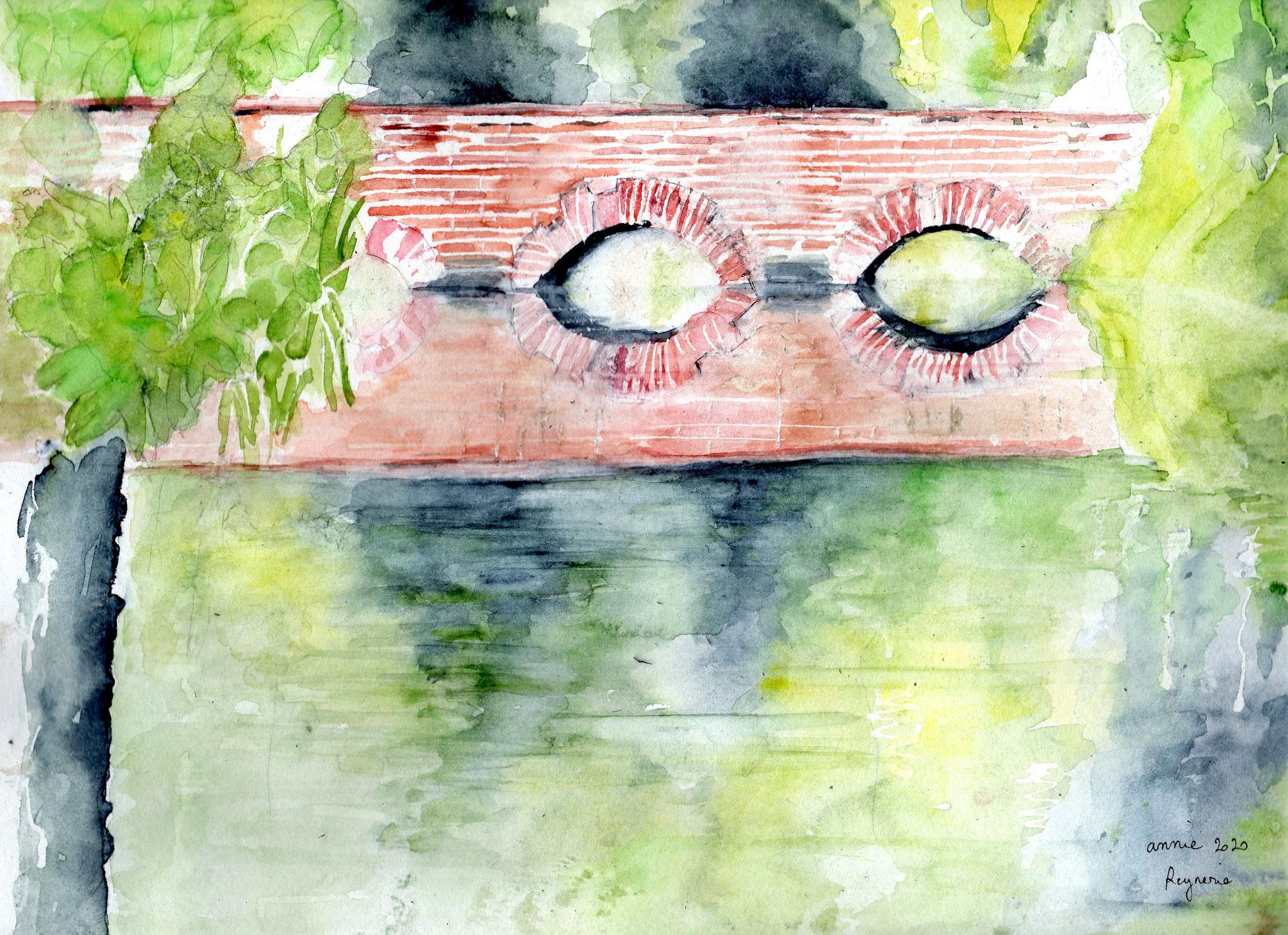 Le pont dans le parc inspiré d'une photo de Jehanne SBX