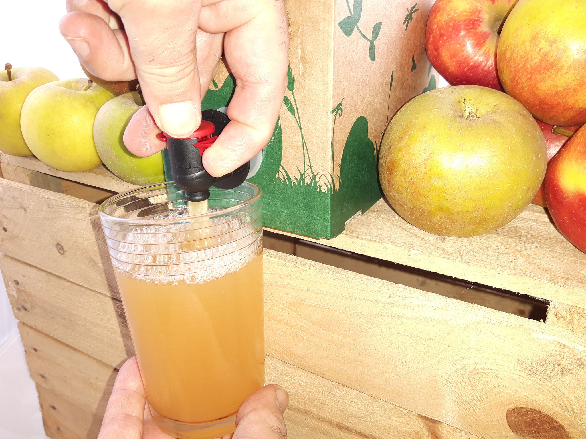 Apfelsaft zapfen