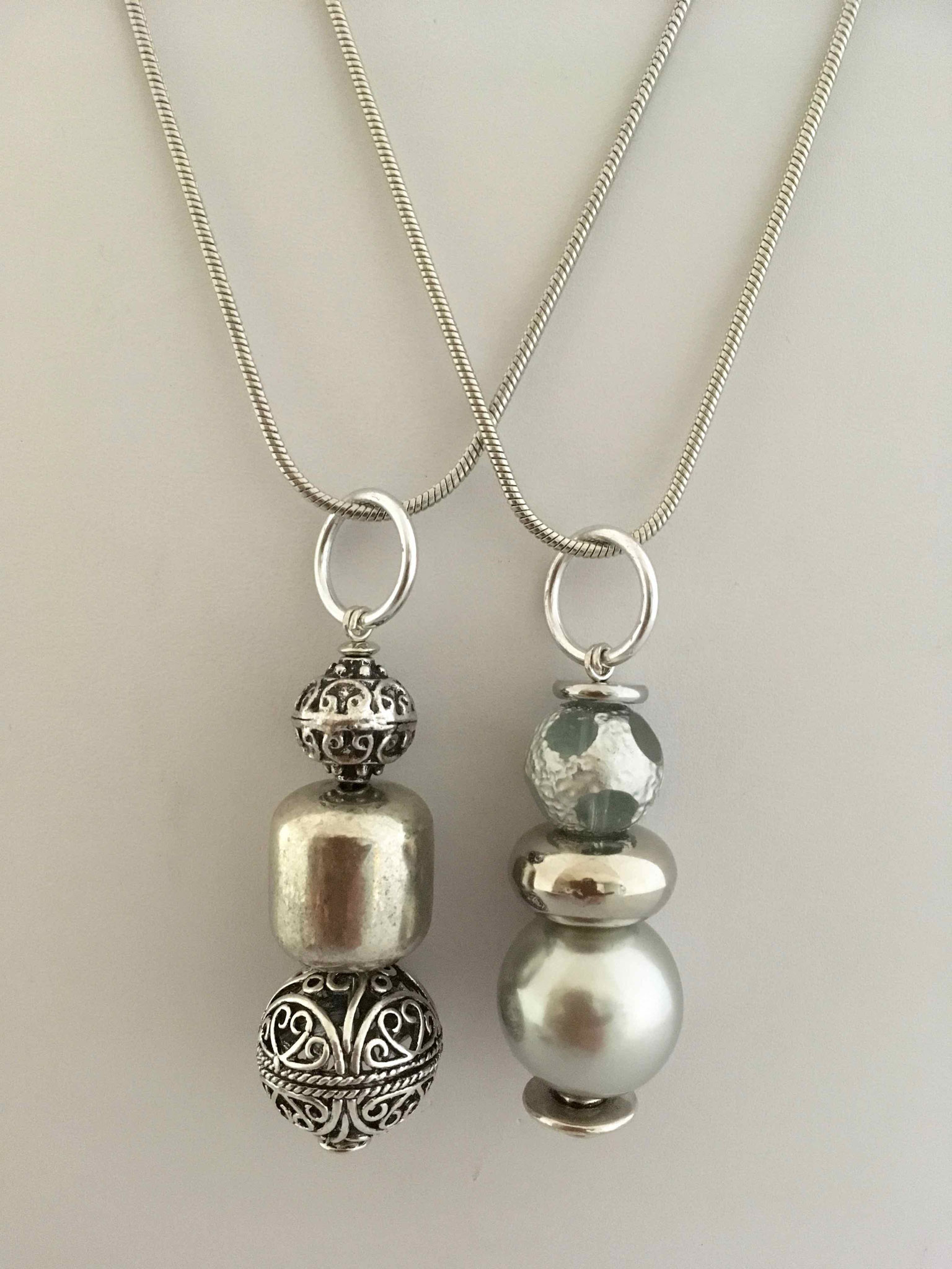 Chagoë, colliers 2 en 1, Collection  GRIS-METAL  2018