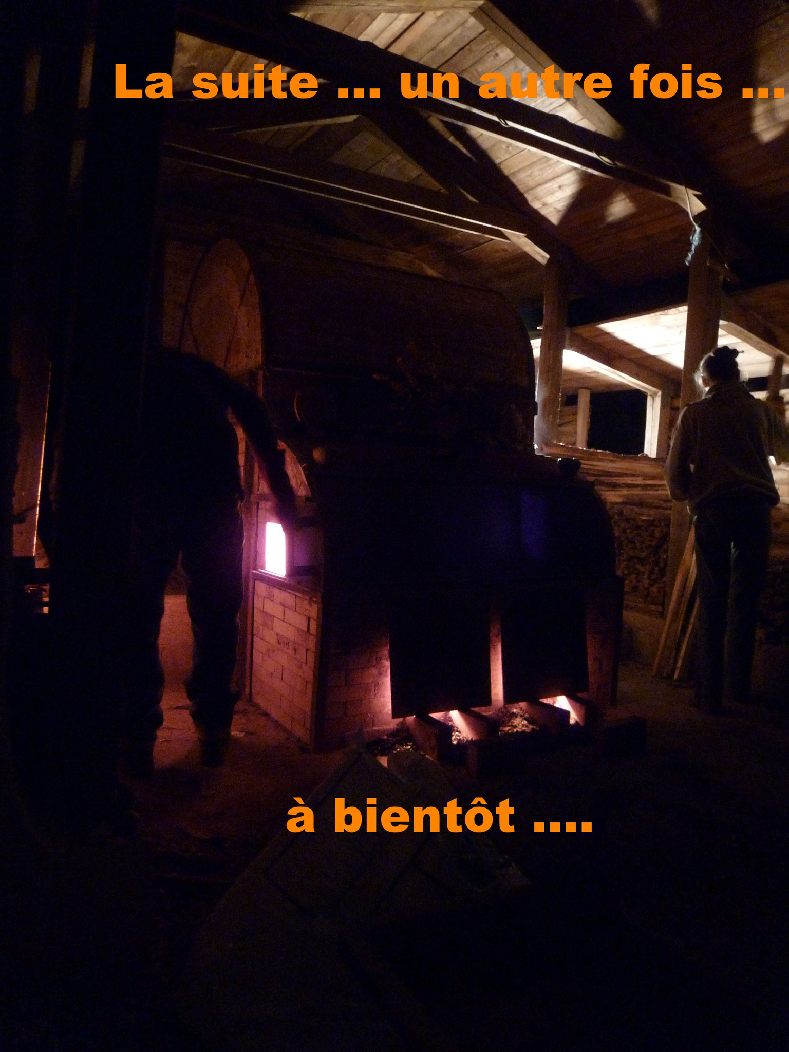 Cuisson en cours dans le Noborigama de Caco et Sylvie à Bouquet de Flammes ...