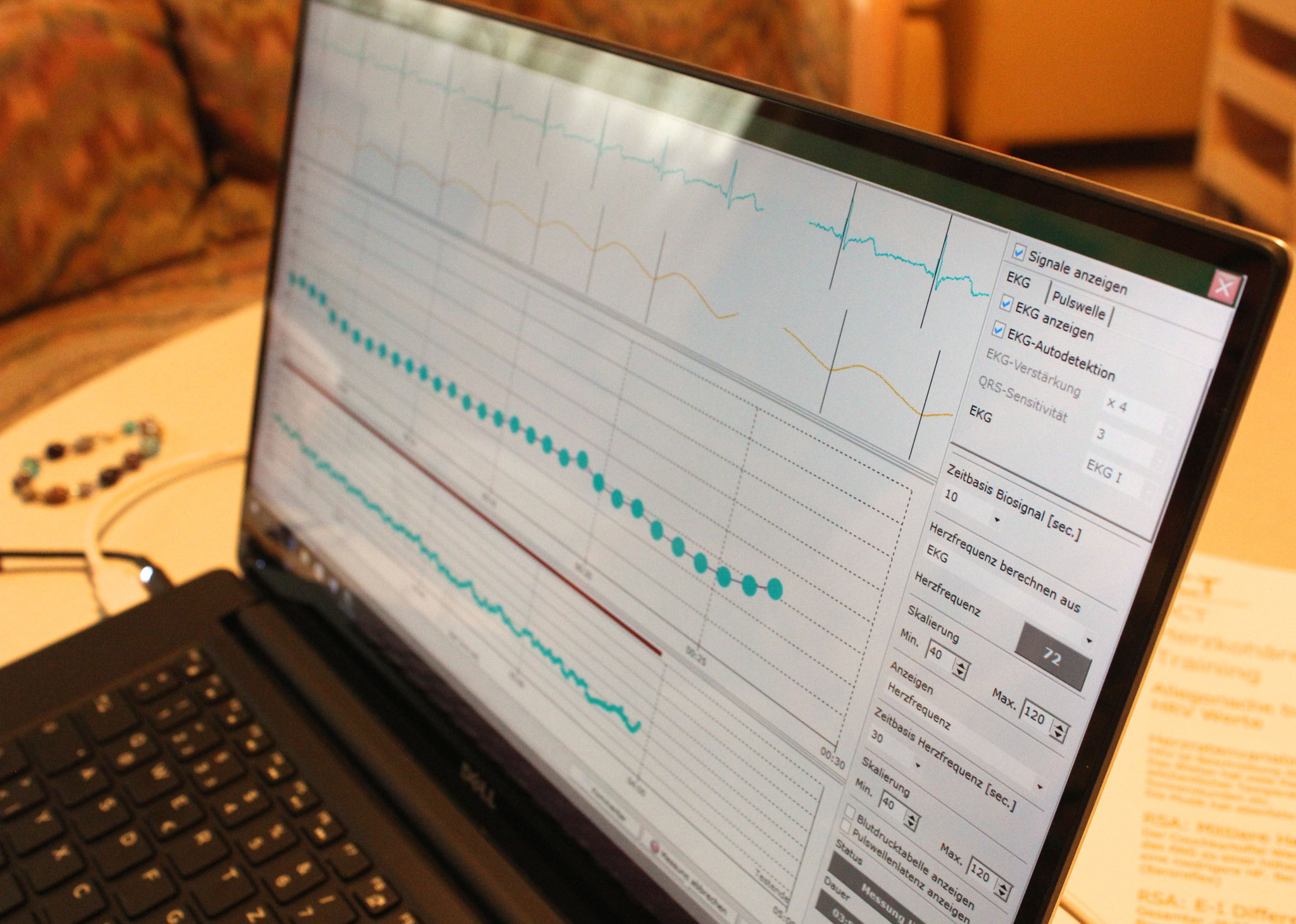 Biofeedback-Messung (HRV)