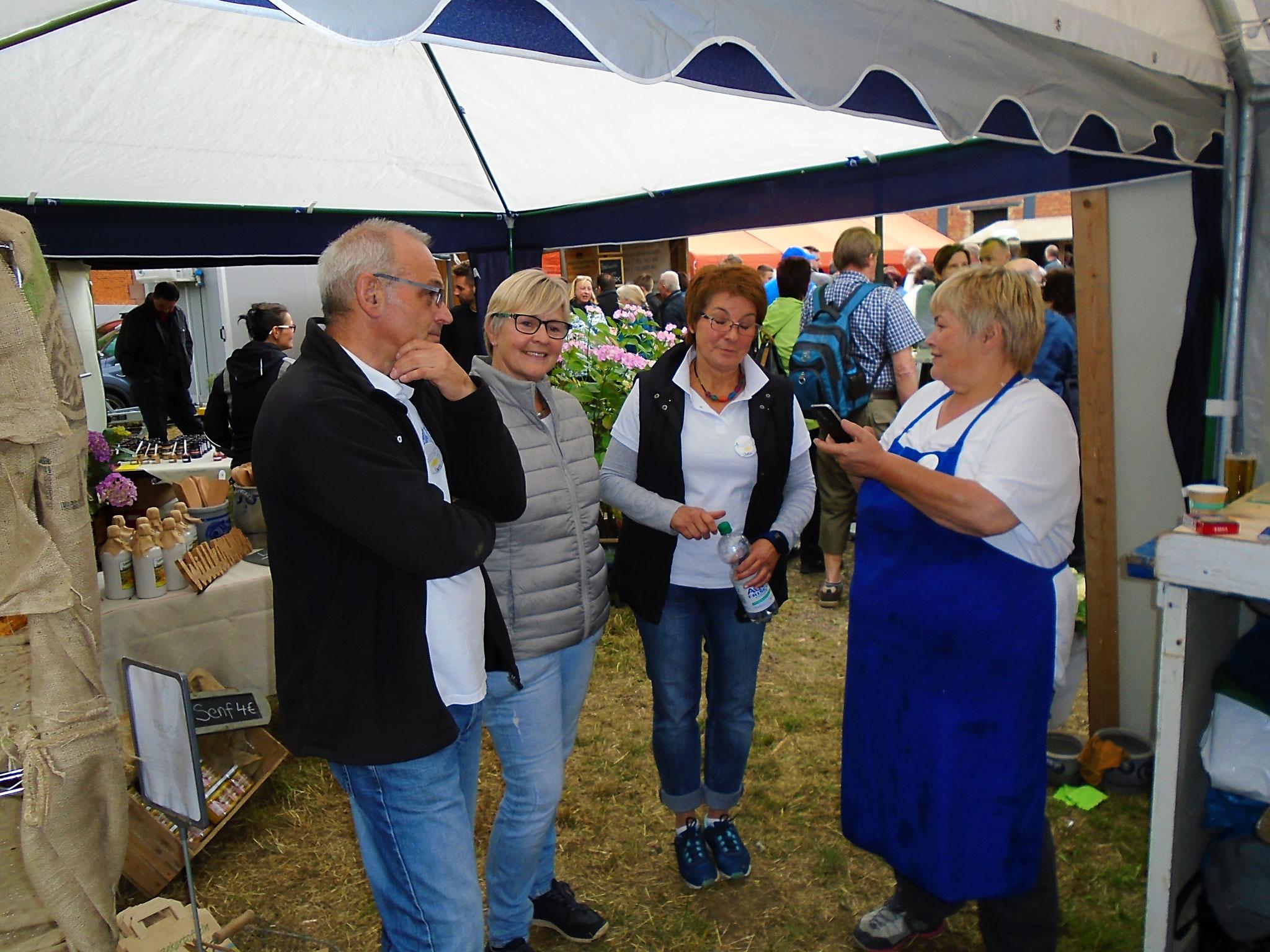 v.l. Gert Pottmann, Marianne Neutze, Jutta Pottmann und Iris Degenhardt