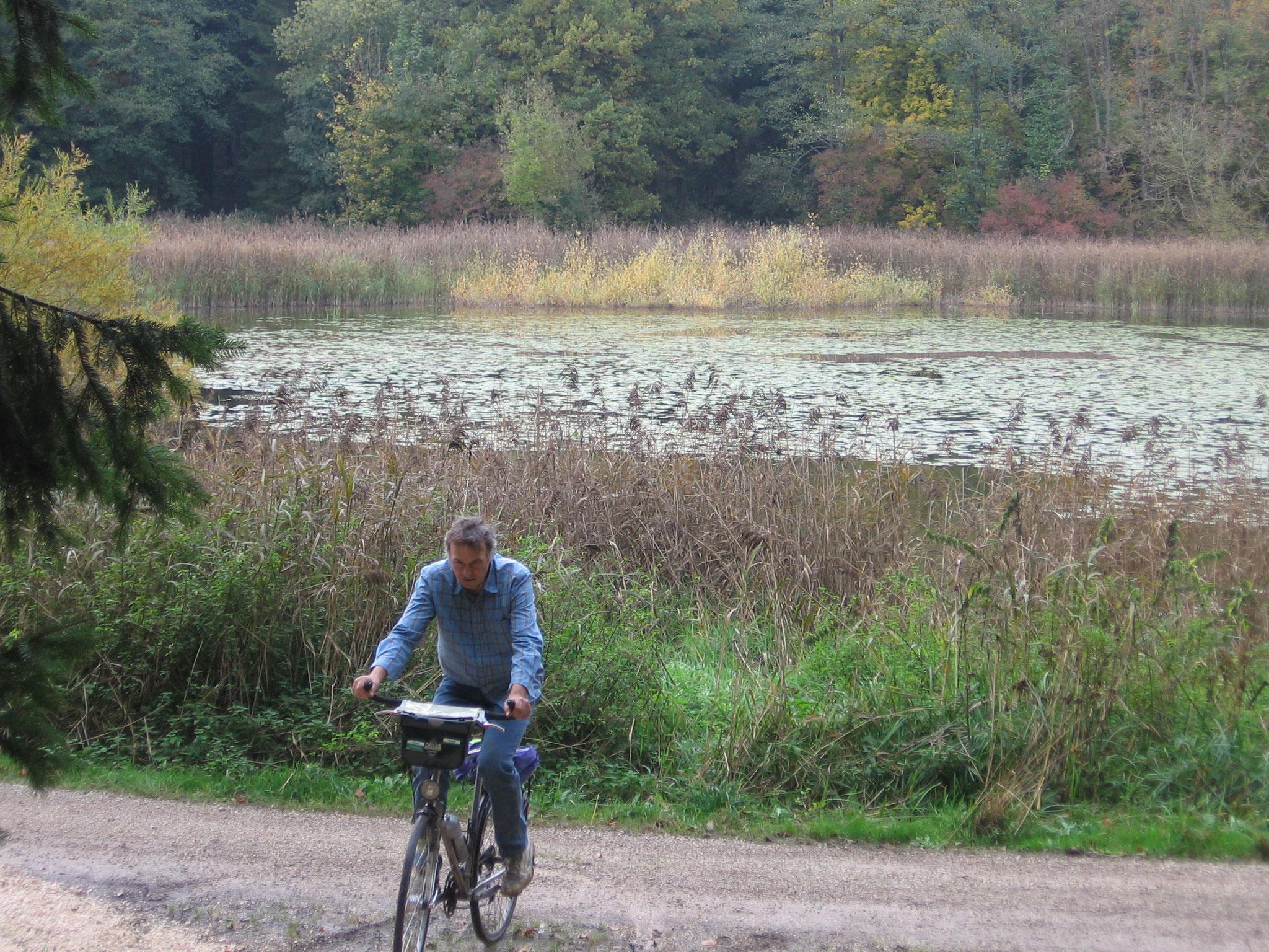 Radfahren am Prälatenweiher