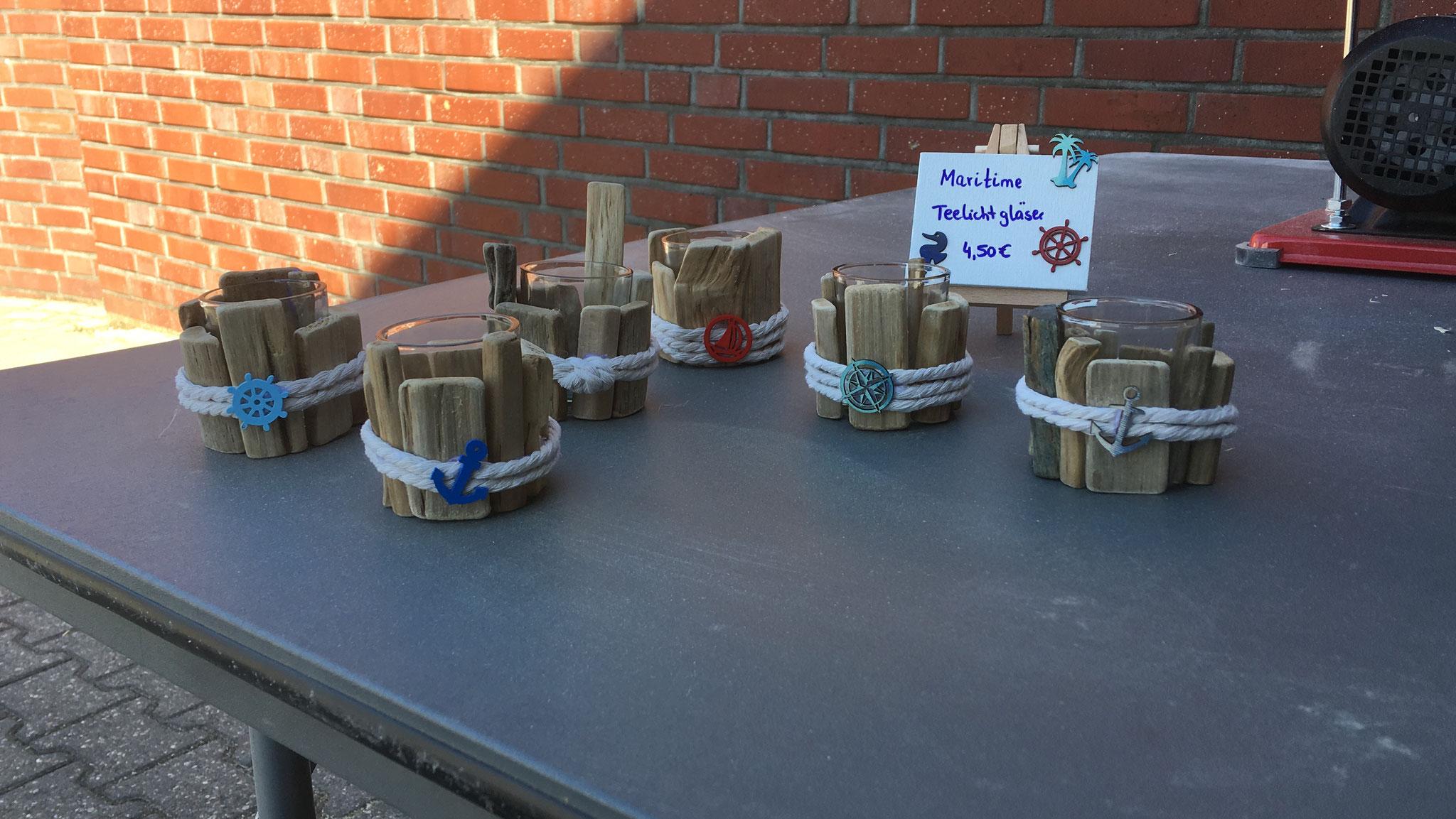 maritime Teelichtgläser je 4,50€
