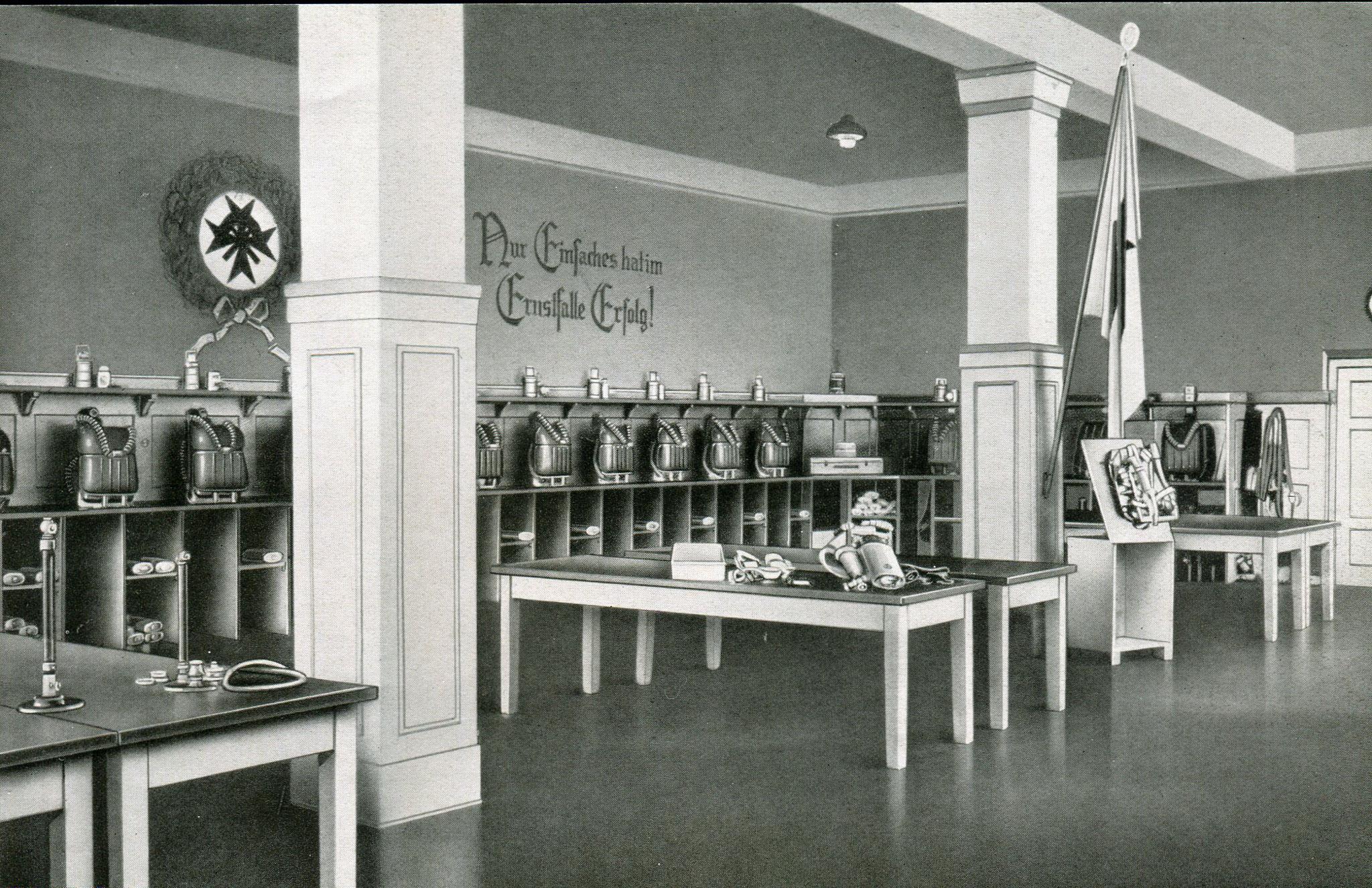Haupstelle Gasschutzgeräteraum Grubenrettungswesen in Beuthen  1929