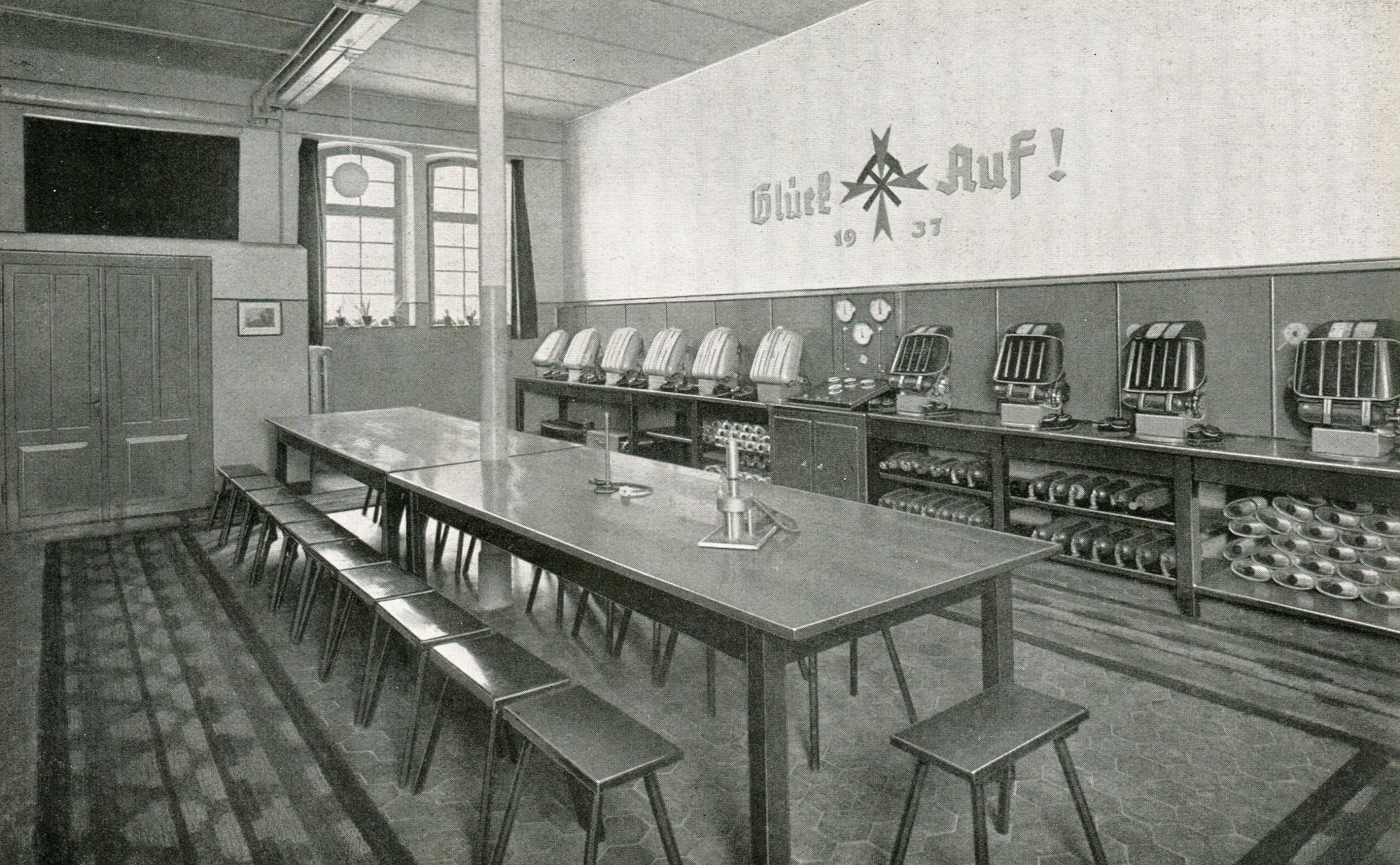 Gasschutzgeräteraum Schachtanlage König Ludwig IV/V  in Herten  1938