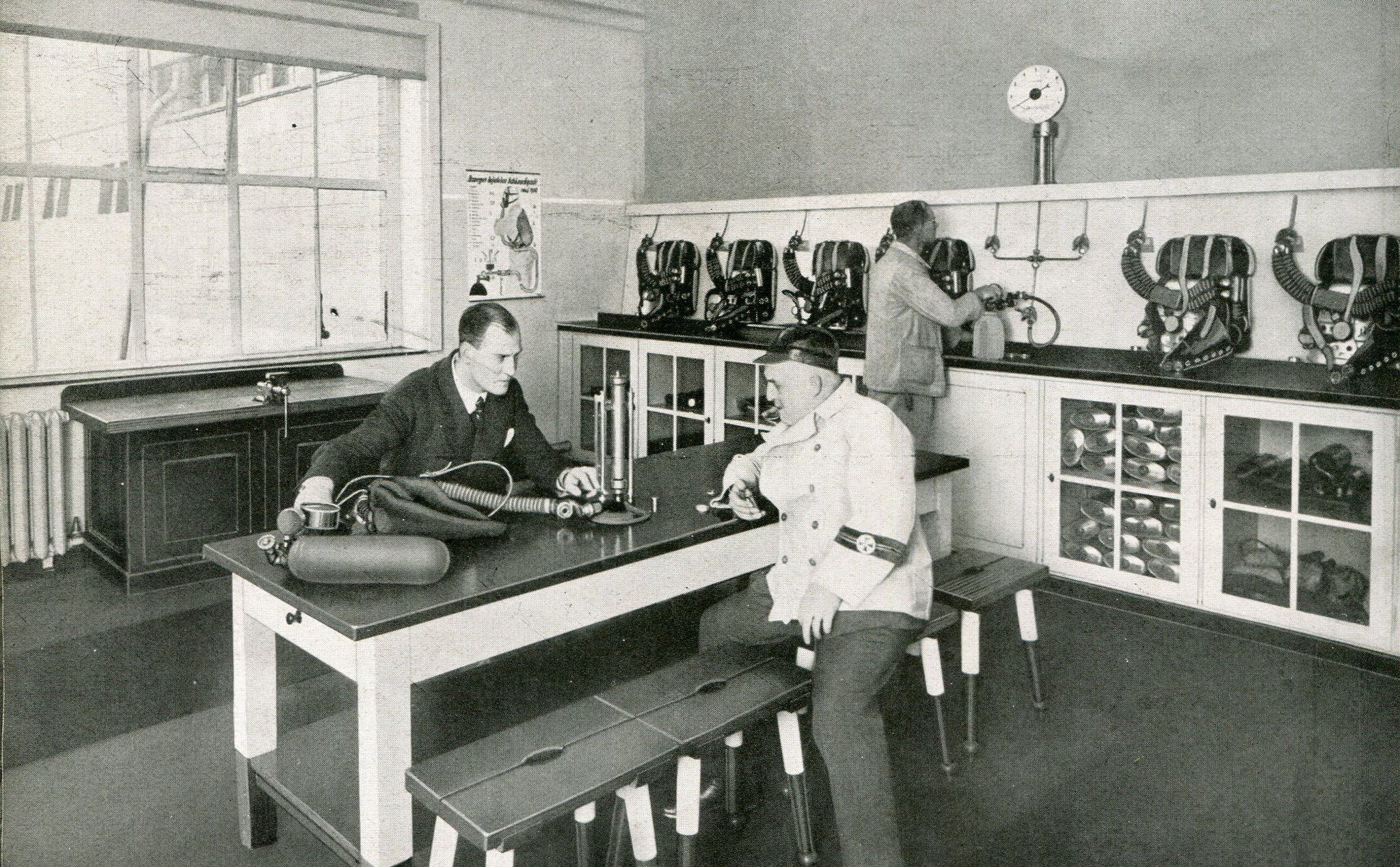 Gasschutzgerätelager Westende  1931