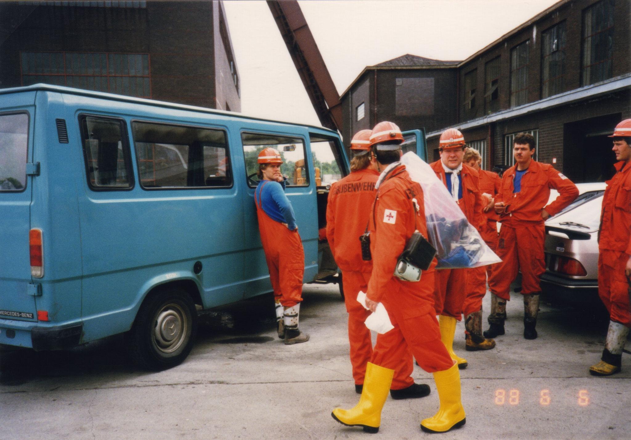 Zentralgrubenwehr, Abfahrt aus Herne