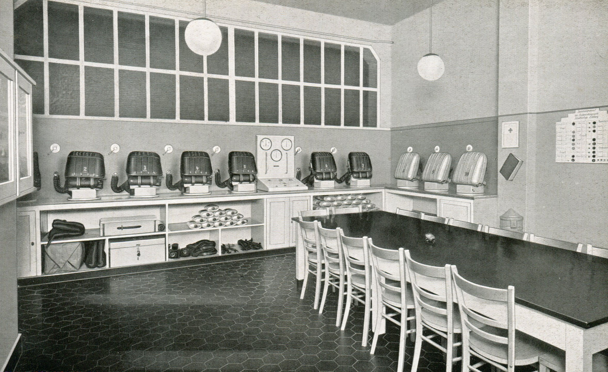 Gasschutzgeräteraum Zeche Lohberg in Dinslaken  1937