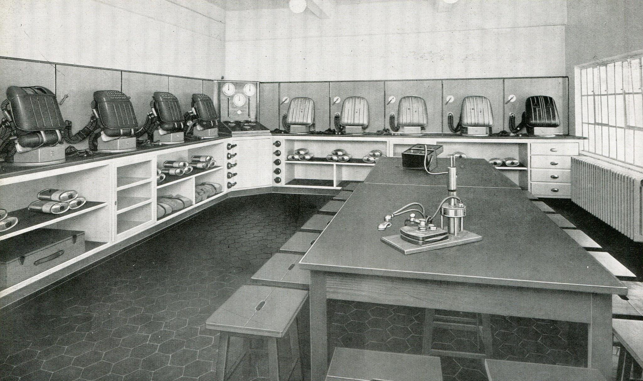 Gasschutzgeräteraum Zeche Sophia-Jacoba in Hückelhoven  1937