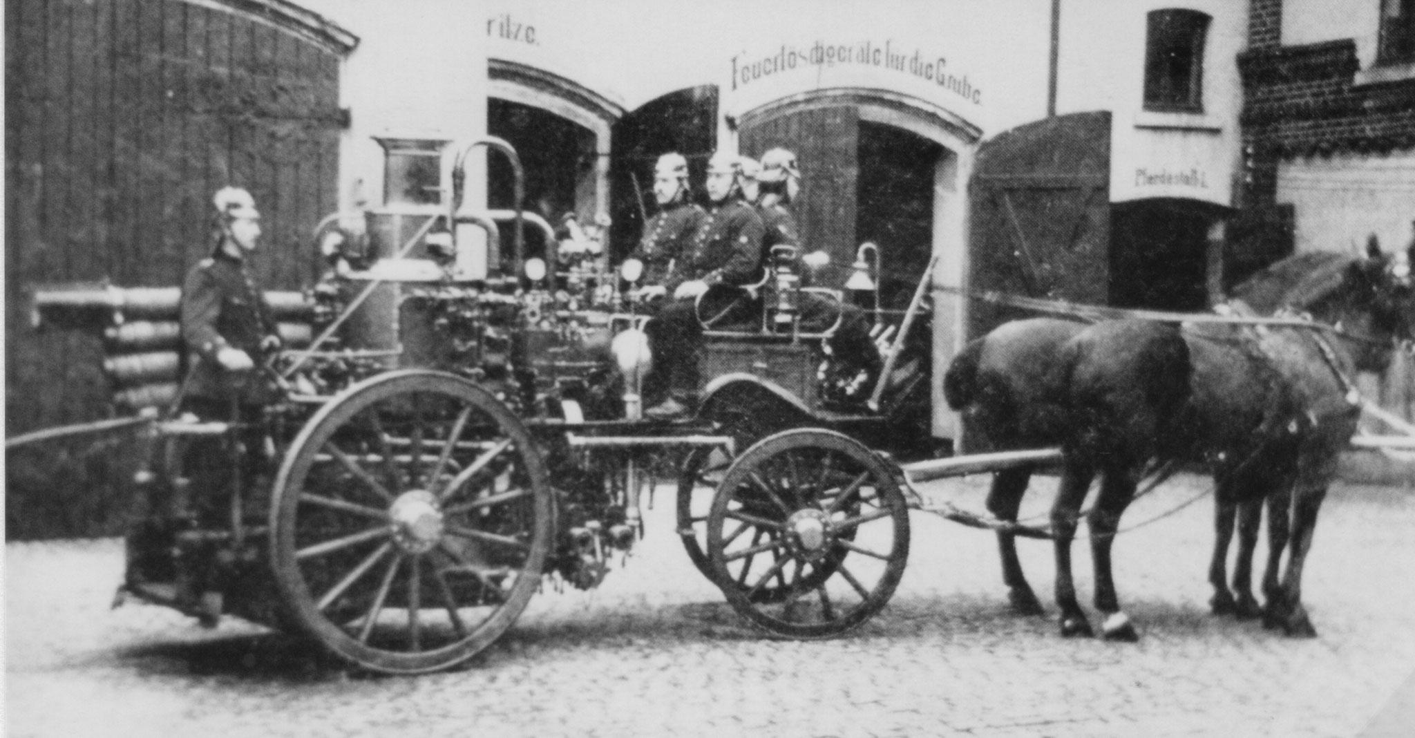 Feuerwehrfahrzeug für Pferdezug