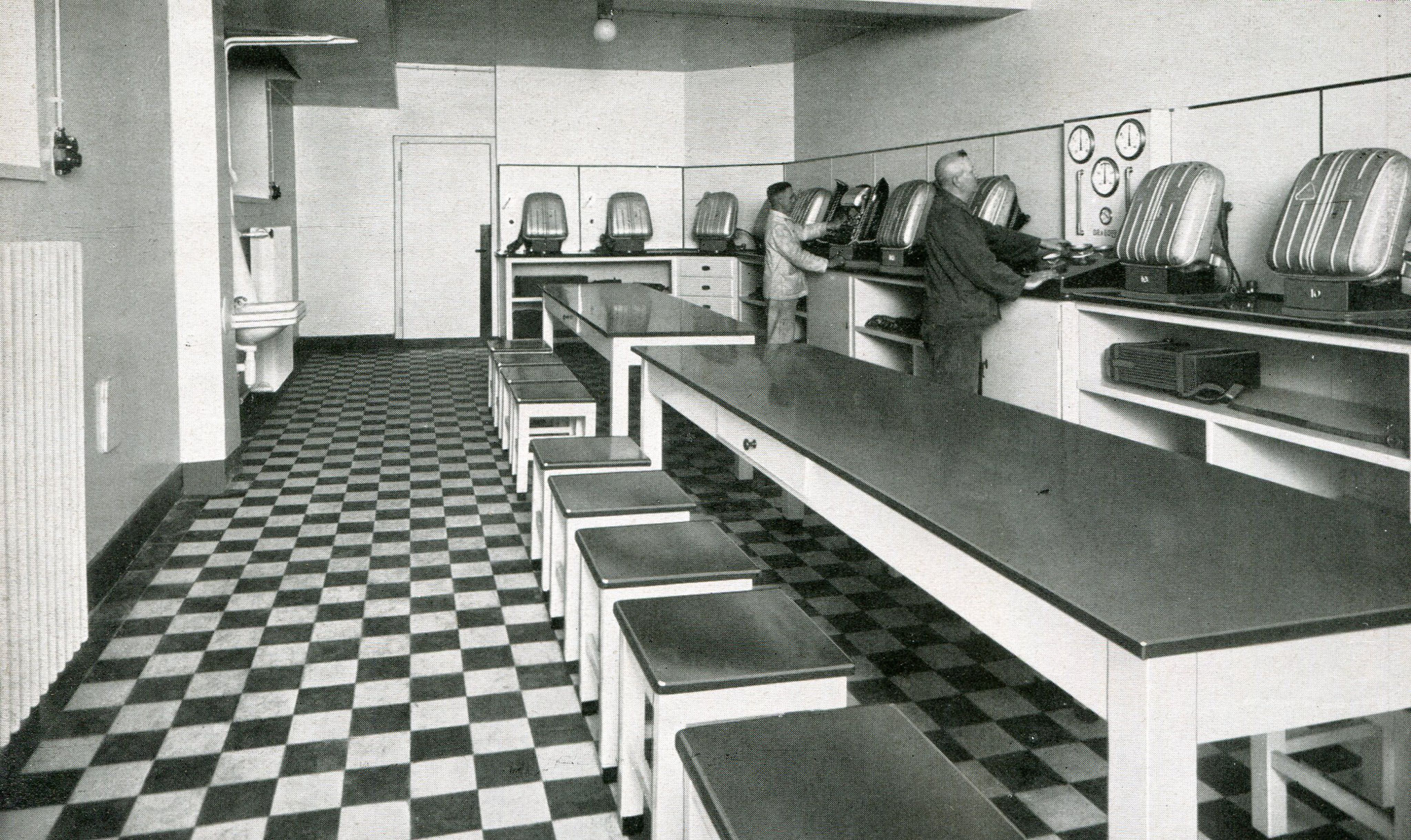 Gasschutzgeräteraum Rettungsstelle Zeche Gustav I/II in Dortmund  1940